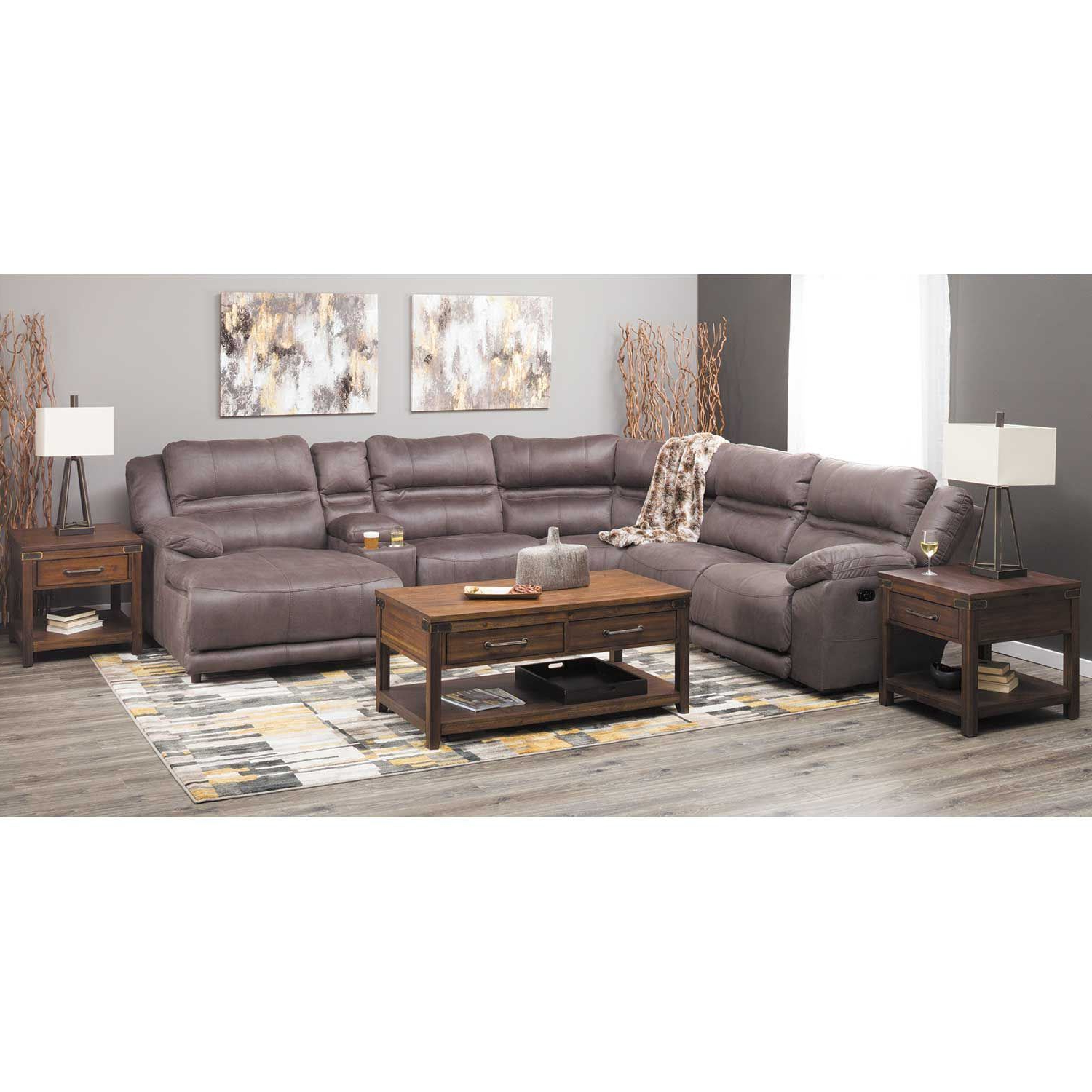 Famous Braxton 6 Piece Power Reclining Sectional With Adjustable Headrest With Jackson 6 Piece Power Reclining Sectionals (View 17 of 20)