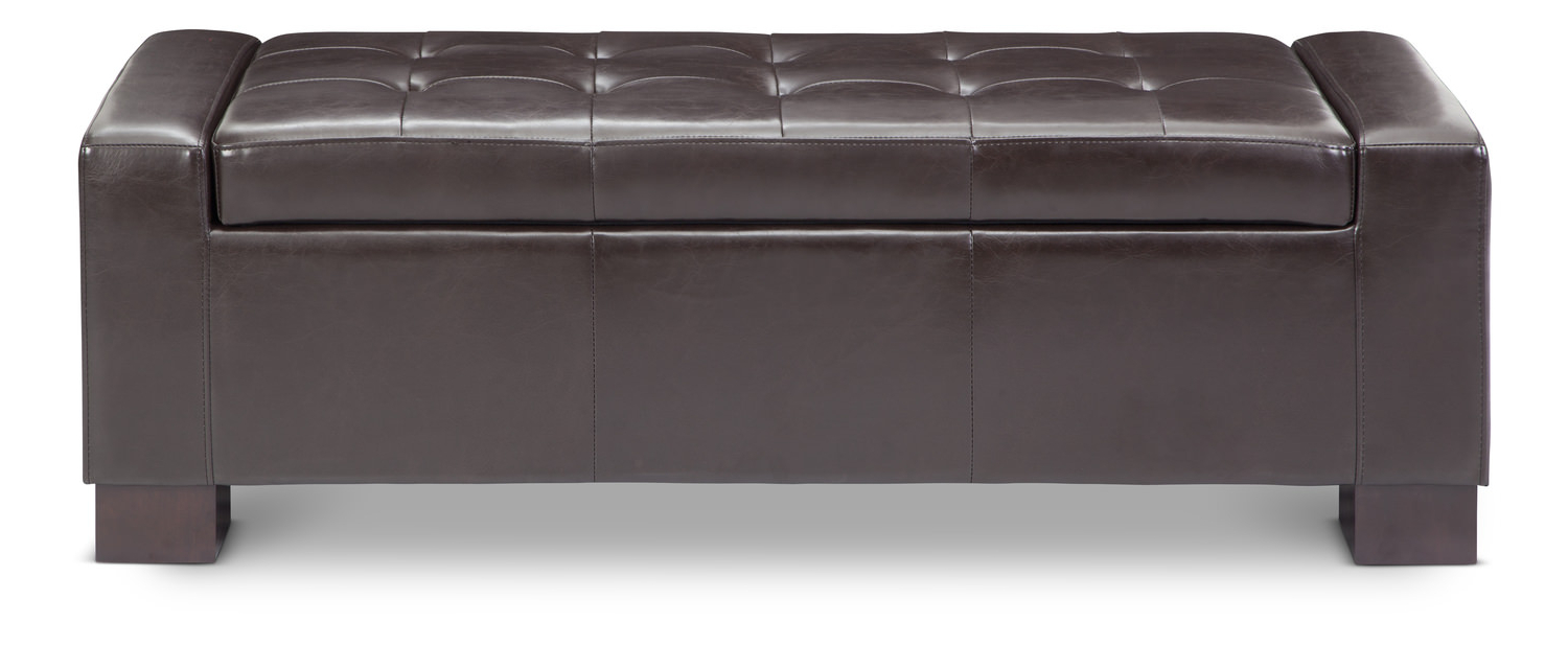 Famous Burton Leather 3 Piece Sectionals With Ottoman Intended For Ottomans – Living Room Poufs & Ottomans – Hom Furniture (View 15 of 20)