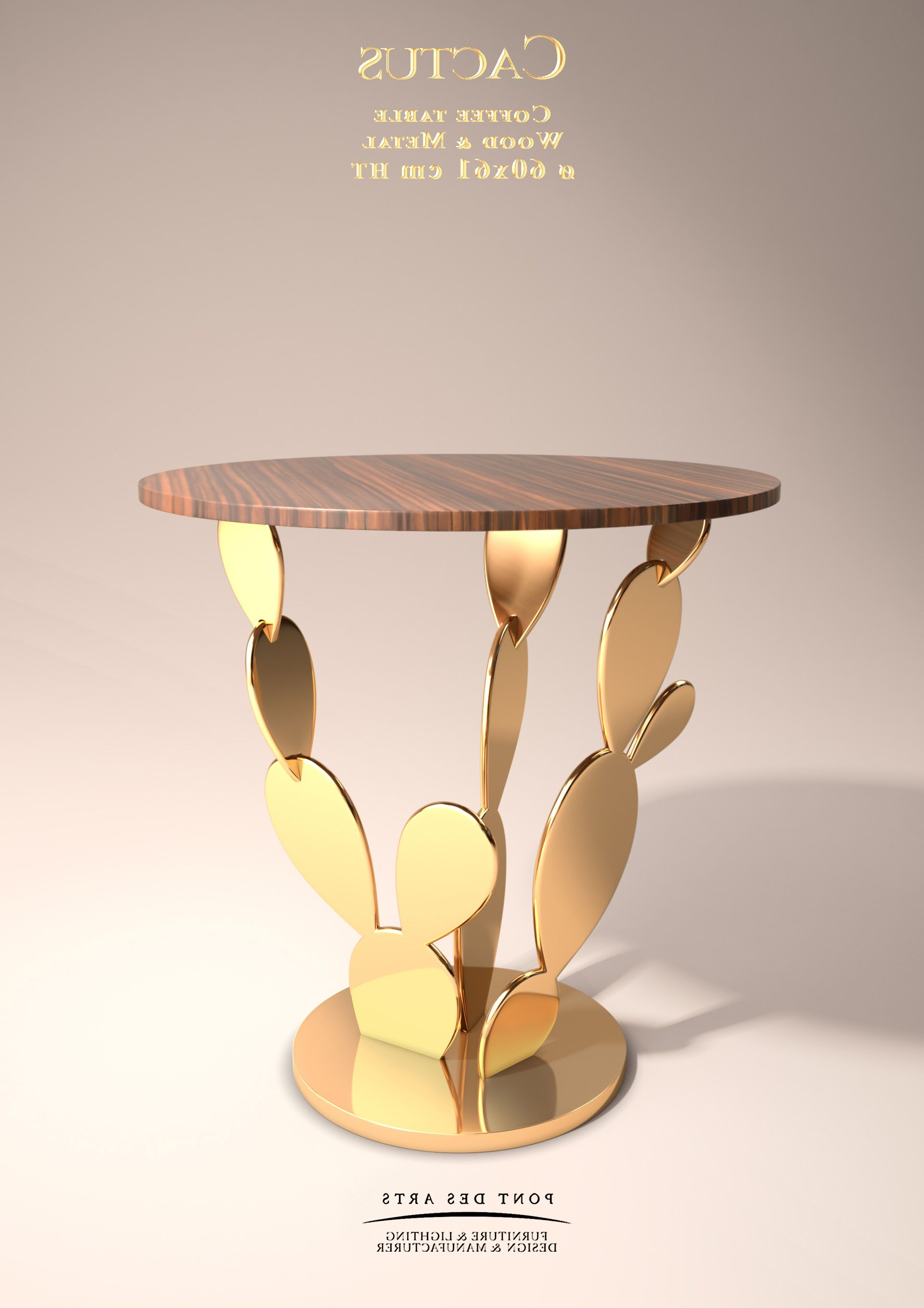 Famous Cacti Brass Coffee Tables Intended For Cactus Table – Designer Monzer Hammoud – Pont Des Arts Studio Paris (View 2 of 20)