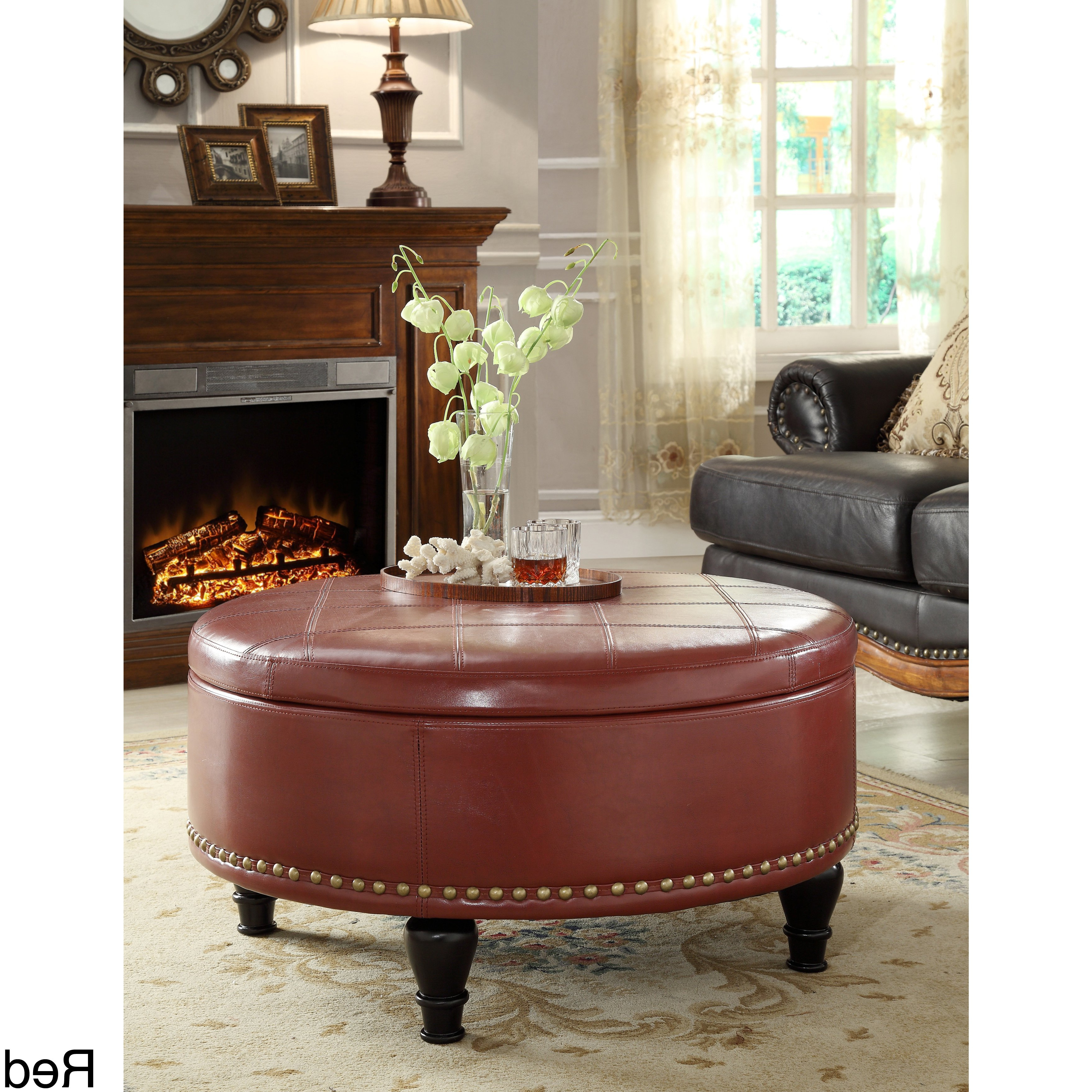 Famous Candice Ii Lift Top Cocktail Tables With Regard To Buy Red Ottomans & Storage Ottomans Online At Overstock (View 9 of 20)