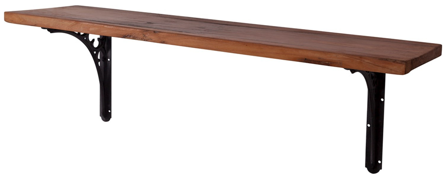 Famous Carron Reclaimed Elm Shelf With Cast Iron Brackets For Reclaimed Elm Cast Iron Coffee Tables (View 11 of 20)