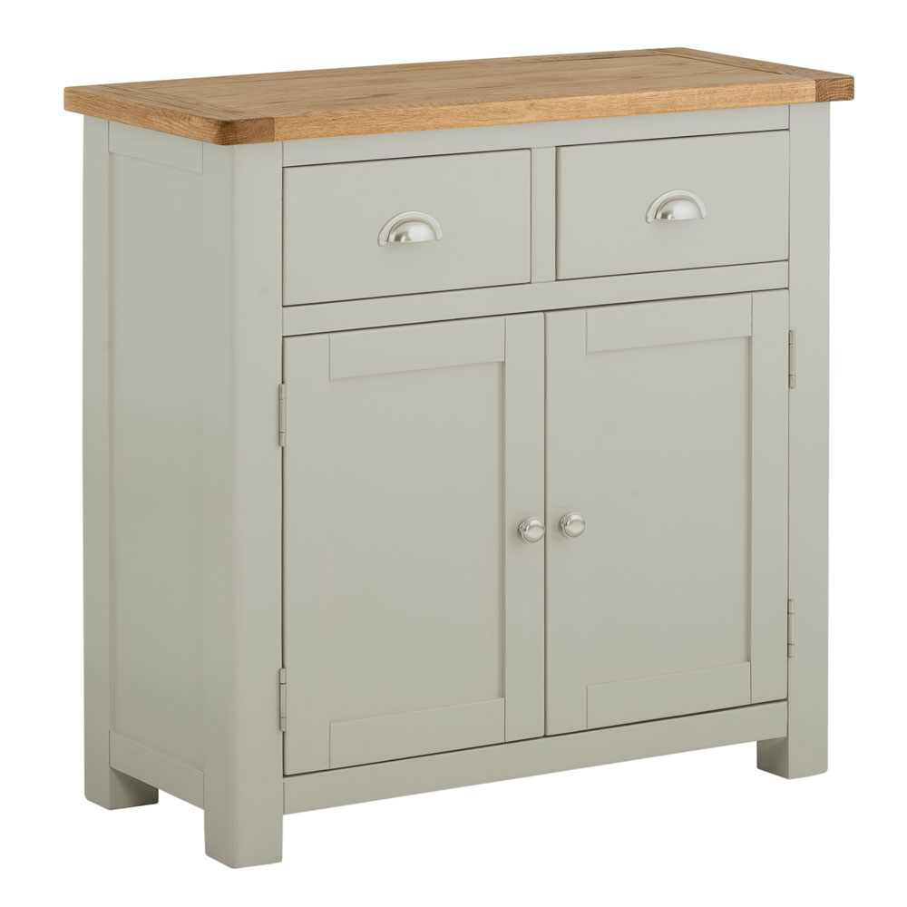 Famous Charcoal Finish 4 Door Jumbo Sideboards Throughout Portman Painted 5 Drawer Slim Jim In Stone Grey (View 9 of 20)