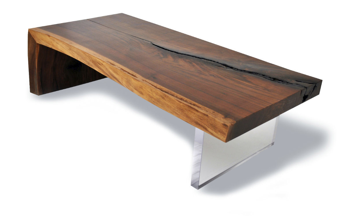 Famous Contemporary Coffee Table / Wooden / Rectangular / In Reclaimed Intended For Live Edge Teak Coffee Tables (View 9 of 20)