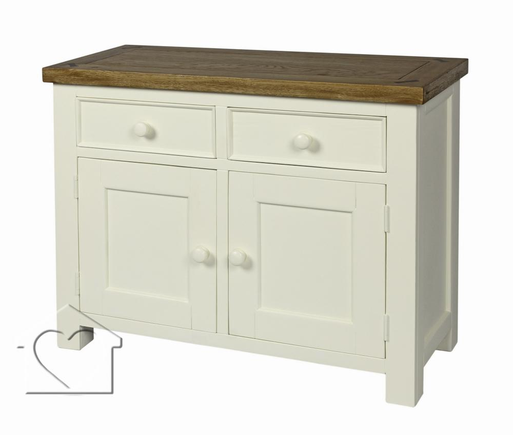 Famous Farmhouse Cream 2 Drawer 2 Door Sideboard – £ (View 9 of 20)