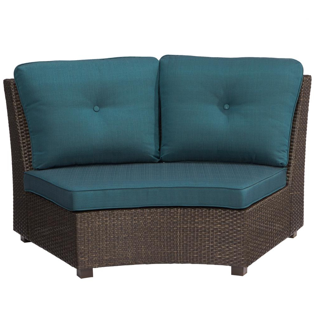 Famous Karen 3 Piece Sectionals For Hampton Bay Torquay Wicker Armless Middle Outdoor Sectional Chair (View 7 of 20)