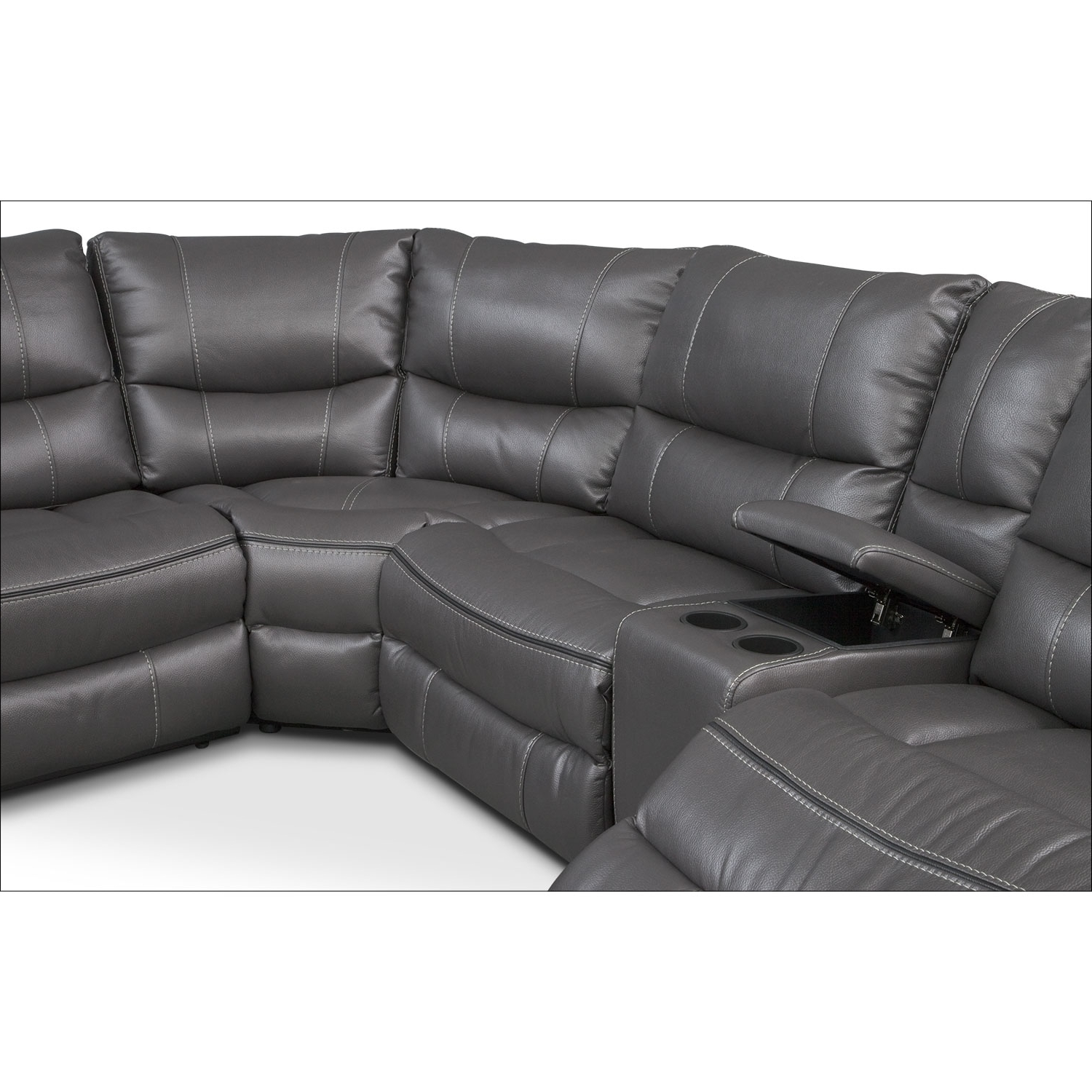 Famous Kristen Silver Grey 6 Piece Power Reclining Sectionals Within Orlando 6 Piece Power Reclining Sectional With 1 Stationary Chair (View 2 of 20)