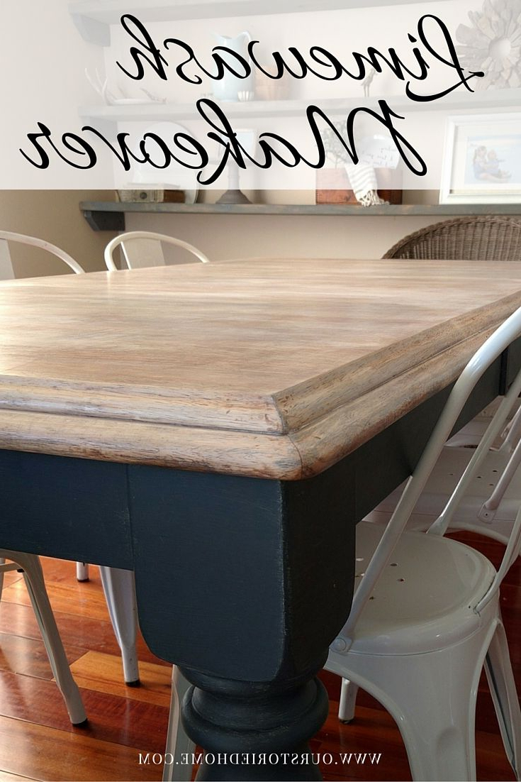 Famous Limewash Coffee Tables Inside Limewashed Table Makeover (View 9 of 20)