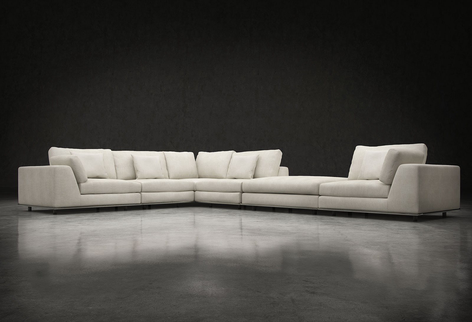 Famous Malbry Point 3 Piece Sectionals With Laf Chaise With Regard To L Sectional Sofa – Dimarlinperez – (View 20 of 20)