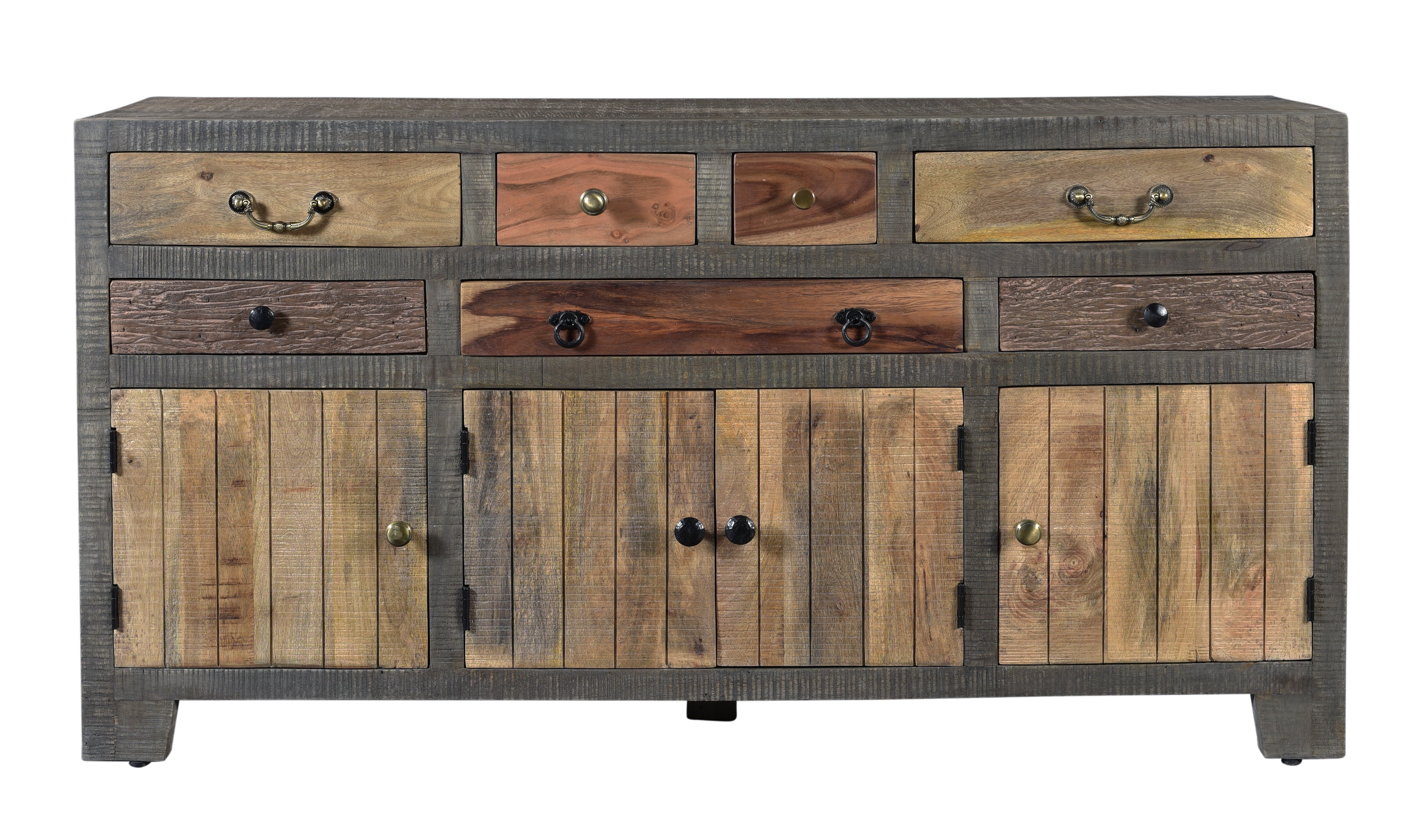 Famous Moultry 7 Drawer 4 Door Sideboard & Reviews (View 15 of 20)