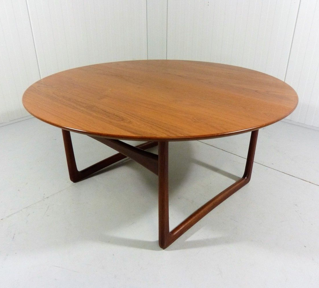 Famous Round Teak Coffee Tables Throughout Round Teak Coffee Tablepeter Hvidt & Orla Mølgaard Nielsen (View 4 of 20)