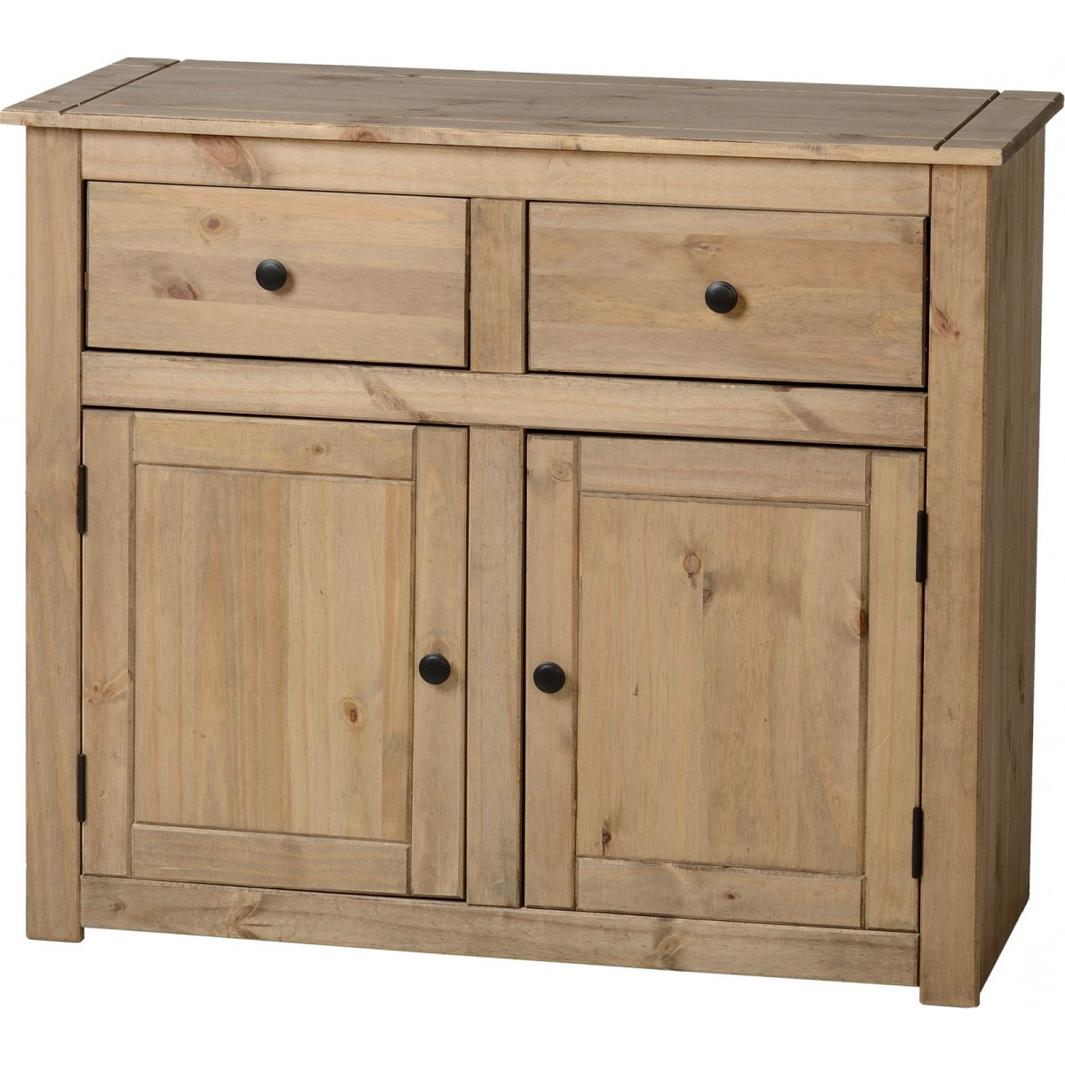 Famous Seconique Solid Waxed Oak Wood 2 Door 2 Drawer Sideboard For Natural Oak Wood 2 Door Sideboards (View 5 of 20)