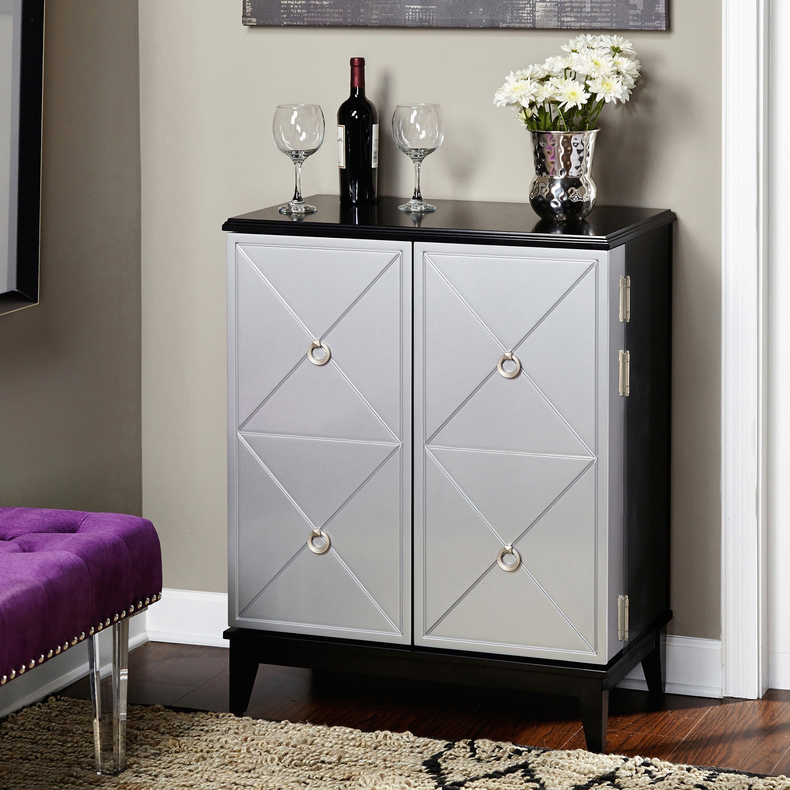 Famous Shop Simple Living Lexington Wine Cabinet – On Sale – Free Shipping Throughout Rani 4 Door Sideboards (View 17 of 20)