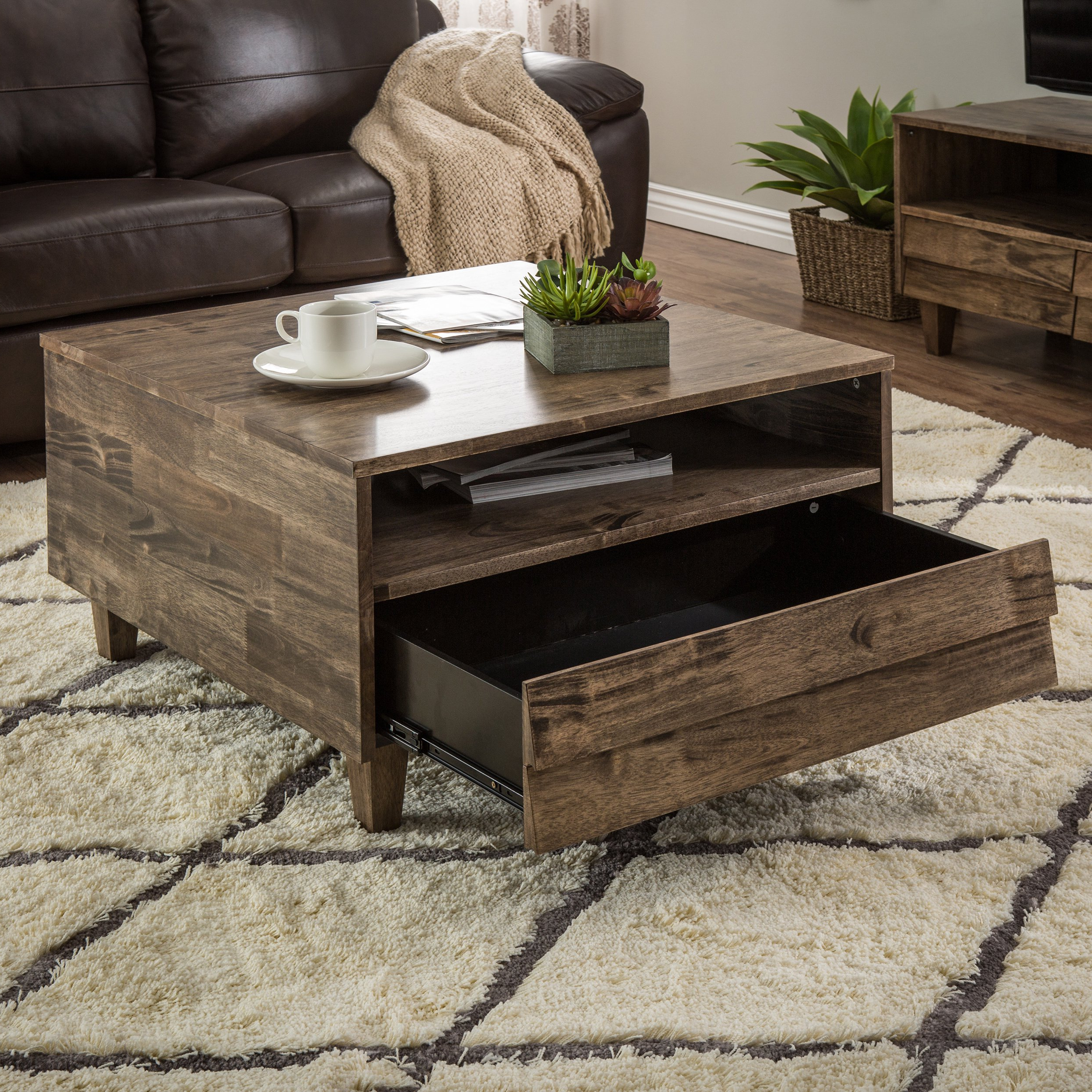 Famous Shop Stones & Stripes Venetian 2 Way 2 Drawer Brown/grey Coffee Intended For Natural 2 Drawer Shutter Coffee Tables (View 10 of 20)