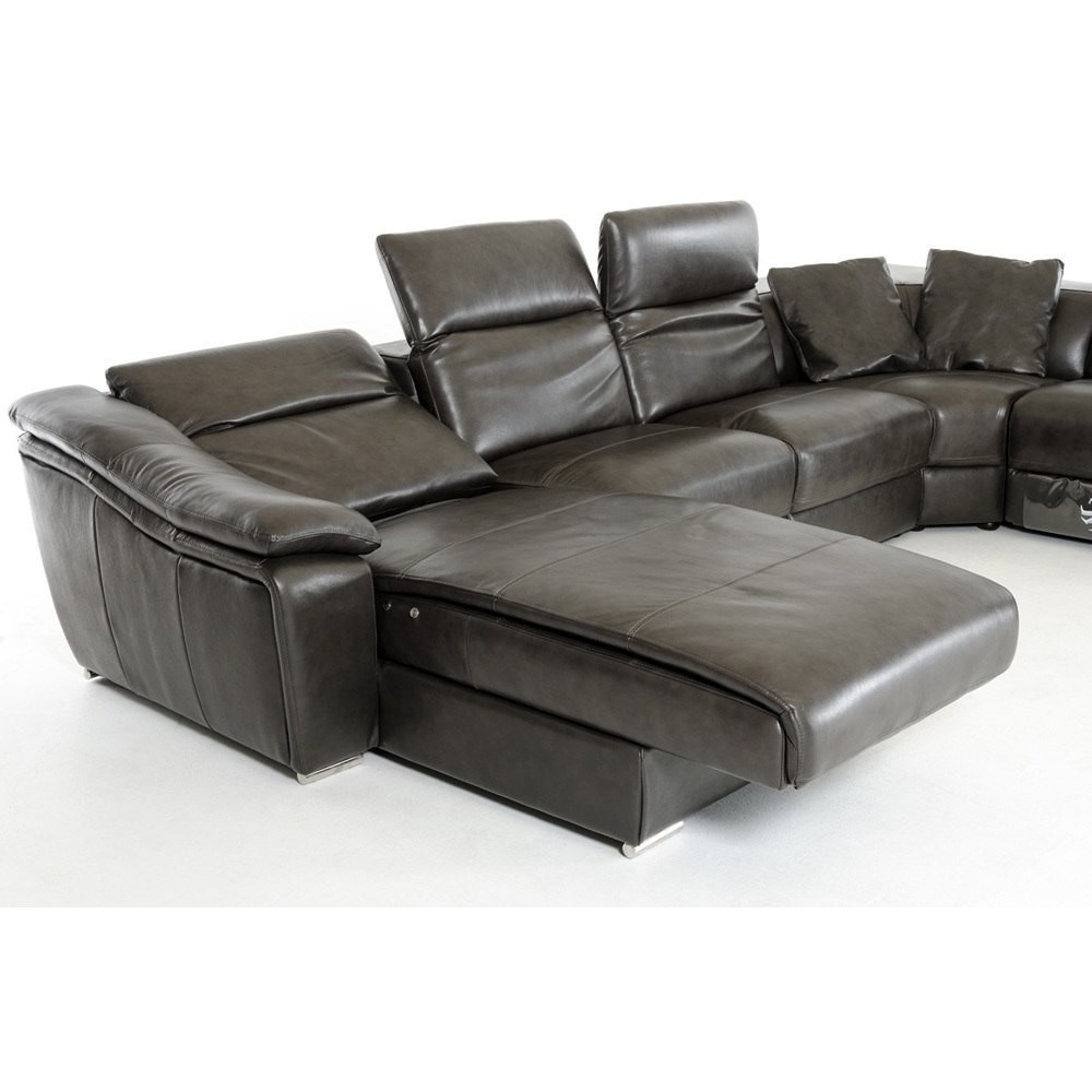 Famous Tenny Dark Grey 2 Piece Right Facing Chaise Sectionals With 2 Headrest With Regard To Grand Tenny Grey Piece Left Facing Chaise Sectional Headrest Been (View 13 of 20)