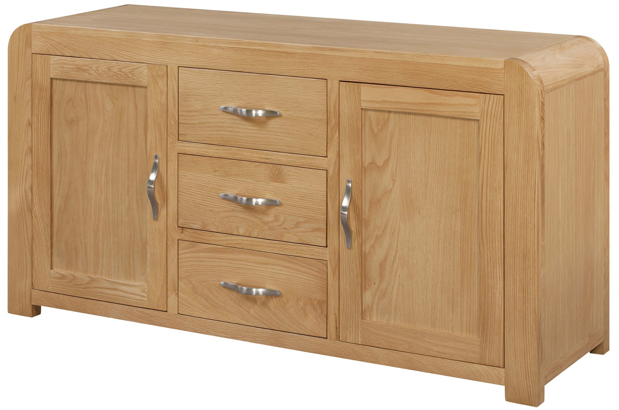 Famous Venice Sideboard With 2 Doors & 3 Drawers – Venice Oak Range – Shop Intended For Antique White Distressed 3 Drawer/2 Door Sideboards (View 4 of 20)