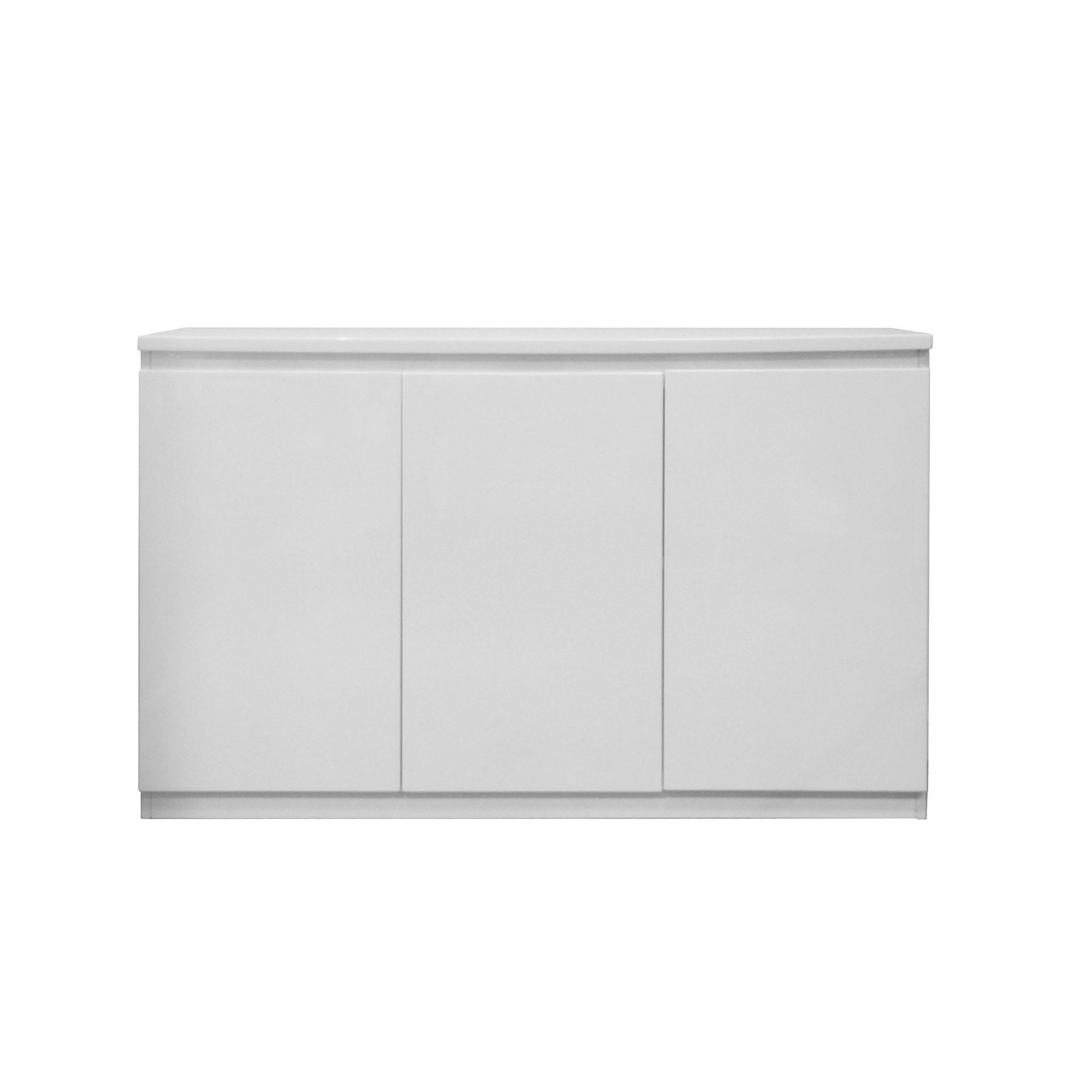 Famous White Wash 3 Door 3 Drawer Sideboards Intended For Vigo High Gloss White 3 Door Sideboard (Gallery 14 of 20)