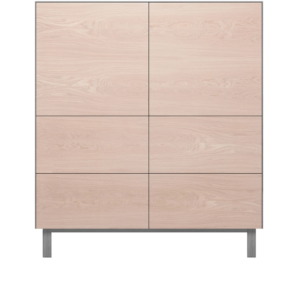 Fashionable 4 Door Wood Squares Sideboards For Another Brand Cubo Square Cabinet 2 Doors & 4 Drawers – Oak/grey (View 9 of 20)