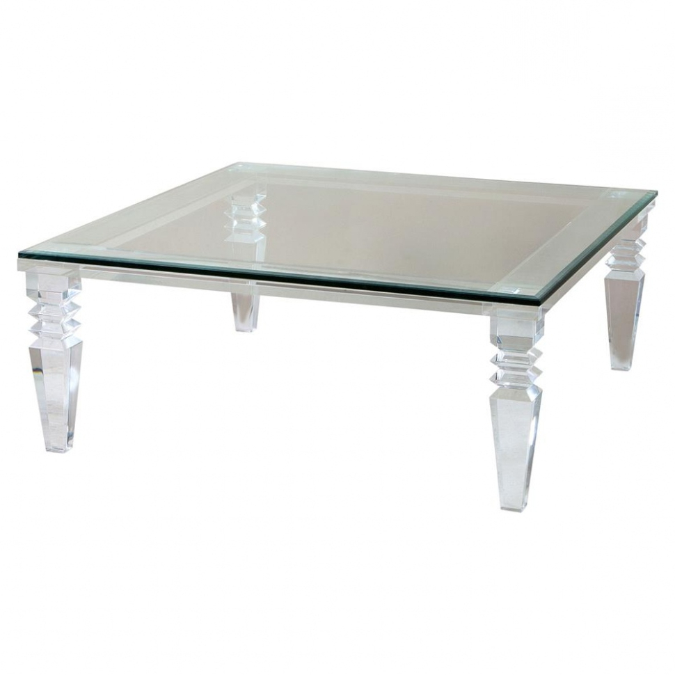 Fashionable Acrylic Coffee Table — Bramblesdinnerhouse Pertaining To Peekaboo Acrylic Coffee Tables (Gallery 6 of 20)