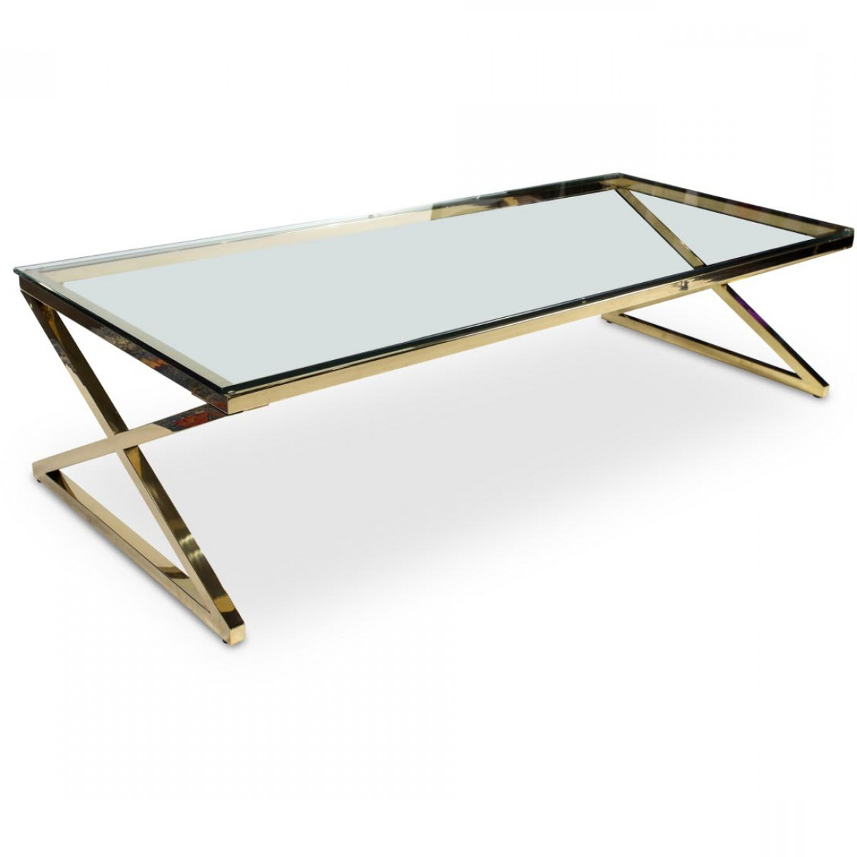 Fashionable Aico Michael Amini Trance Stacy Rectangular Cocktail Table With With Rectangular Coffee Tables With Brass Legs (View 8 of 20)