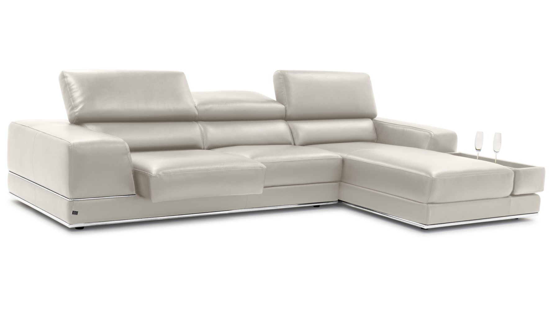 Fashionable Arresting Grey Learat Home Usa Grey Lear Sectional Amalia With Tenny Dark Grey 2 Piece Left Facing Chaise Sectionals With 2 Headrest (View 5 of 20)