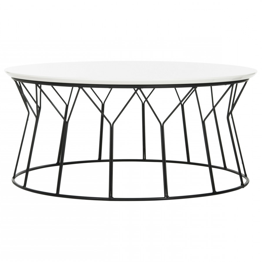 Fashionable Black Wire Coffee Tables Throughout Retro Wire Coffee Table  White Laquer Top ~ Eclectic Goods (View 7 of 20)