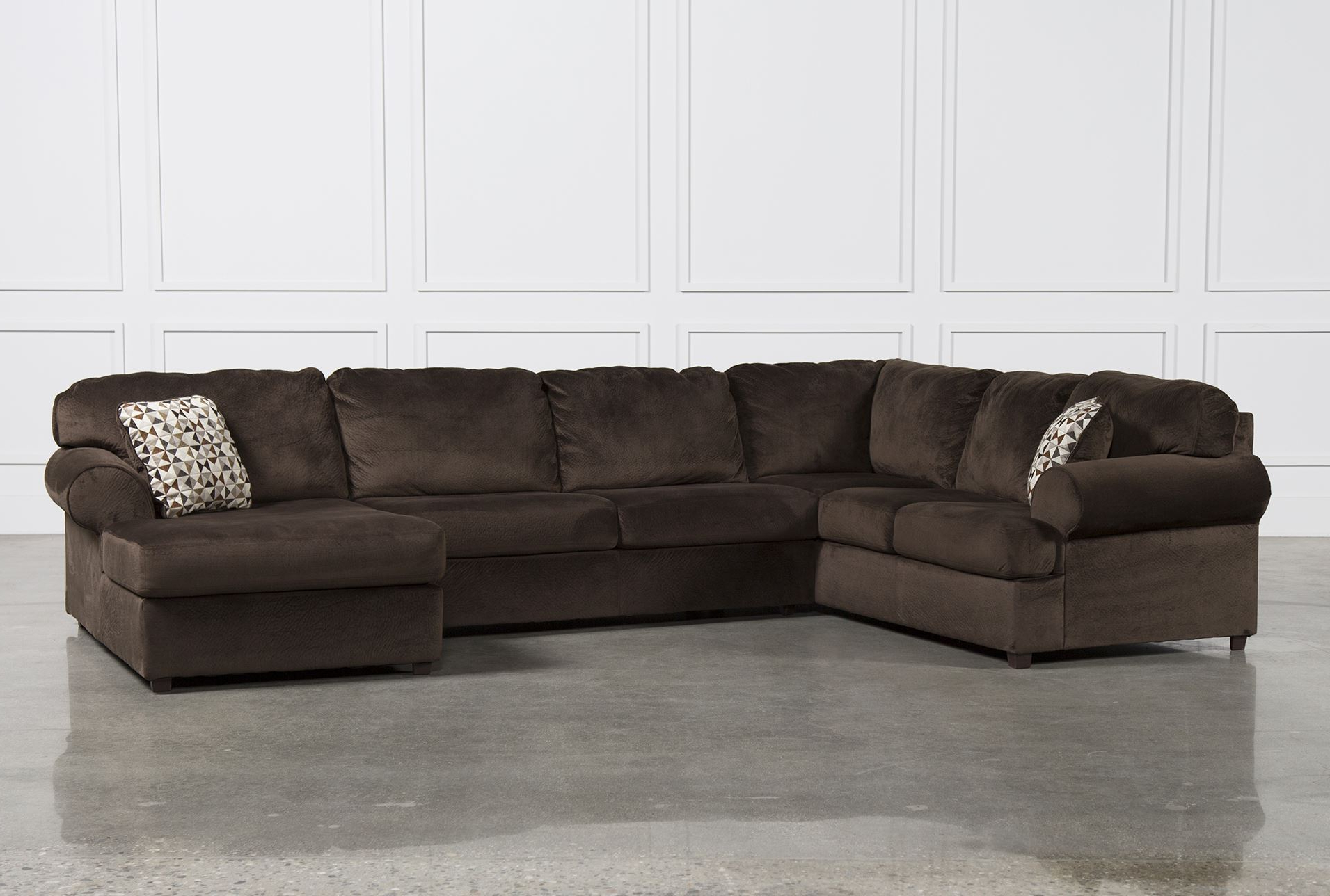 Fashionable Brilliant Ideas Of Raf Chaise With Additional Jessa Place Chocolate Throughout Norfolk Chocolate 3 Piece Sectionals With Raf Chaise (View 3 of 20)