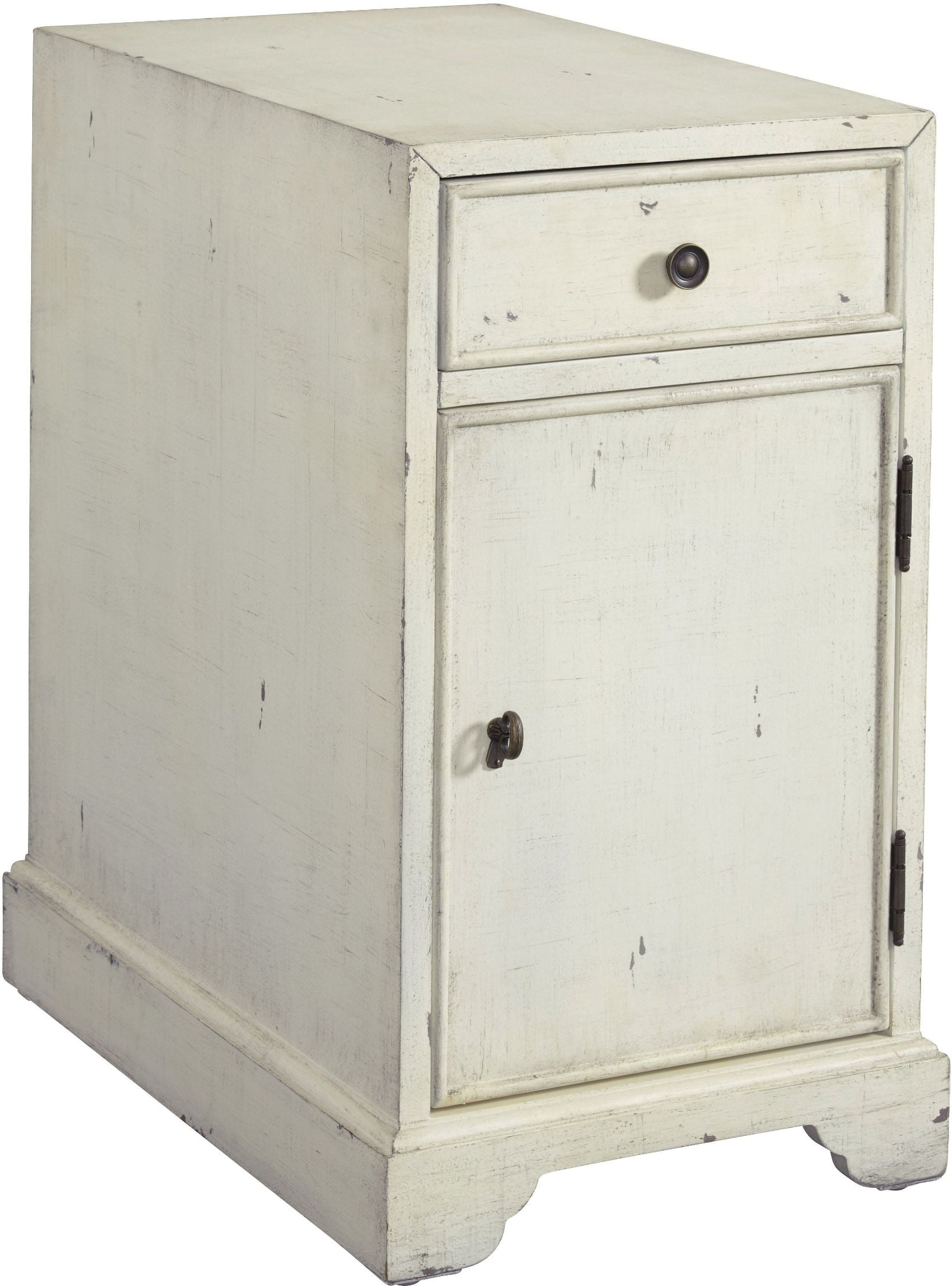 Fashionable Cass 2 Door Sideboards Regarding Progressive Furniture Cass White Chairside Table – Cass Collection (View 12 of 20)