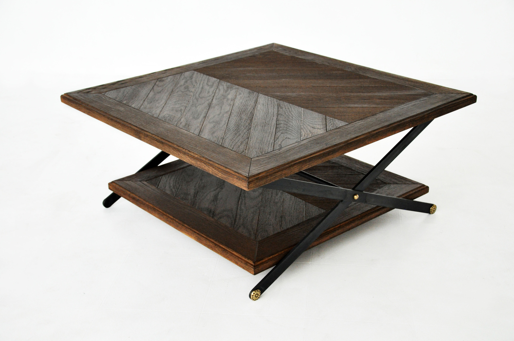 """Fashionable Chevron 48"""" Coffee Tables Intended For Patterned Inlay – Paul Lewin (View 8 of 19)"""