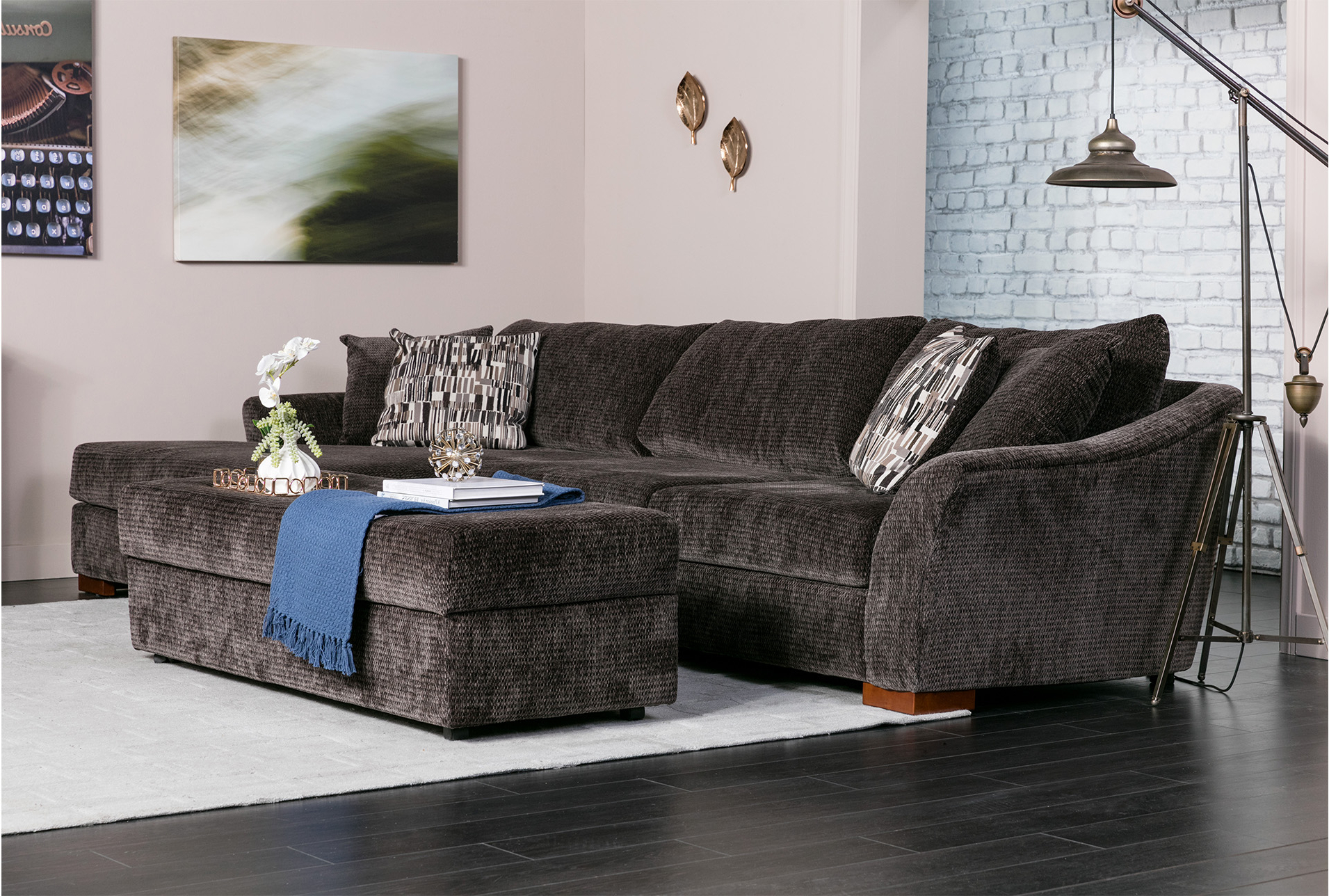 Fashionable Evan 2 Piece Sectionals With Raf Chaise For Evan 2 Piece Sectional W/raf Chaise (View 11 of 20)