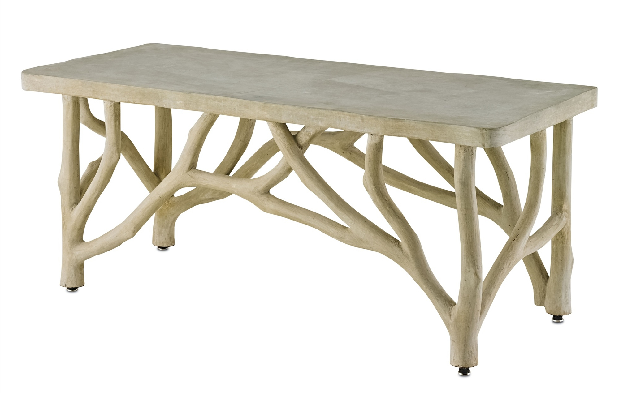 Fashionable Faux Bois Coffee Tables For Bayou Faux Bois Concrete Branch Coffee Table – Mecox Gardens (View 3 of 20)