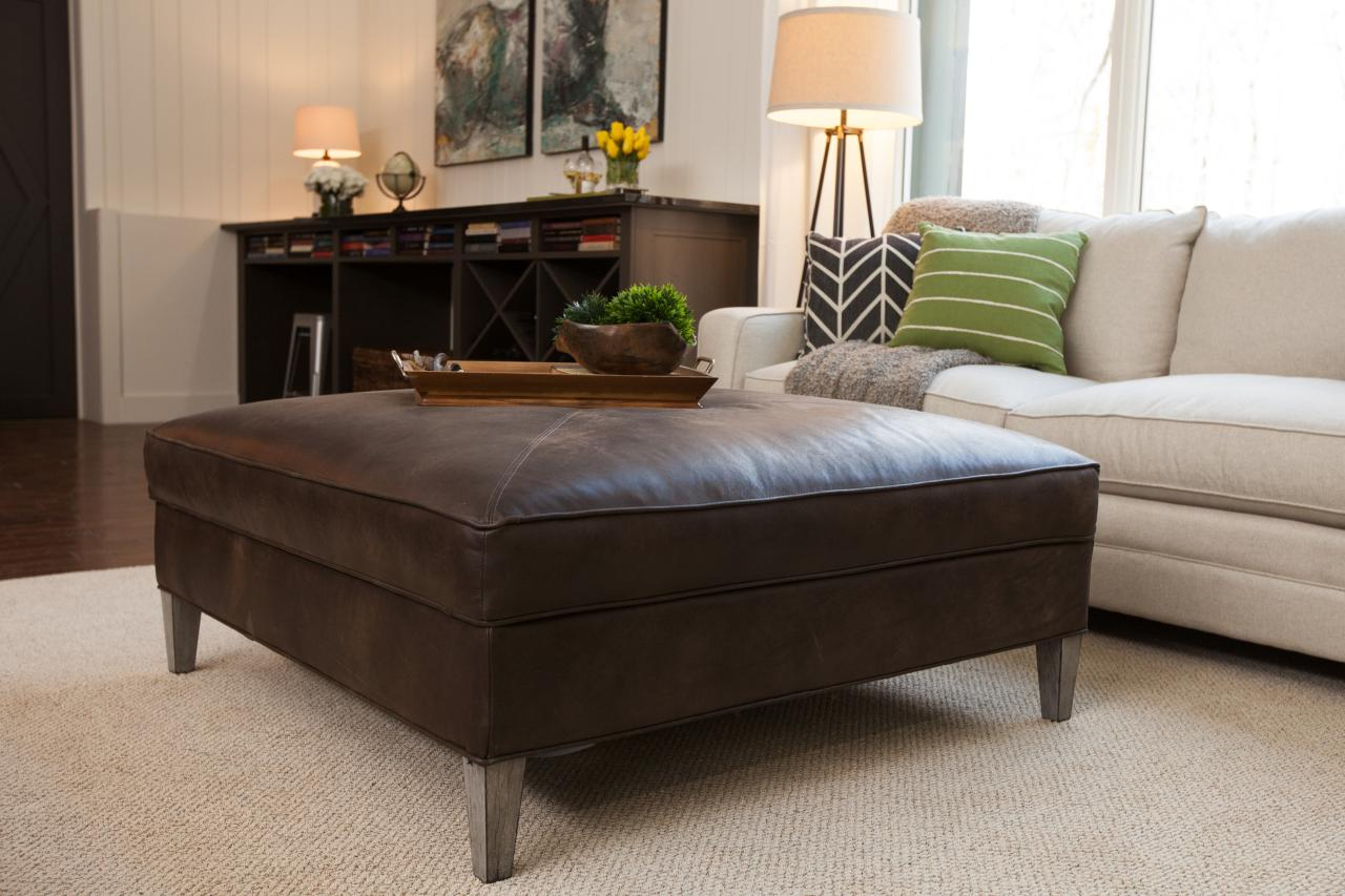 Fashionable Furniture: Elegant Living Room Coffee Table Ideas With Square Pertaining To Mill Large Leather Coffee Tables (View 6 of 20)