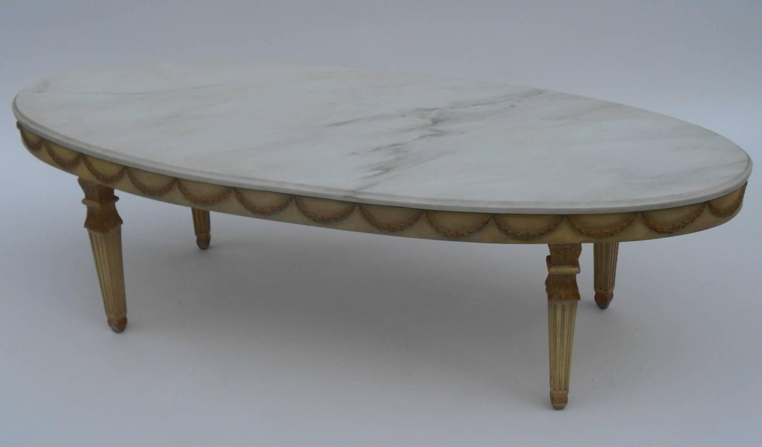 Fashionable Italian Marble Top Coffee Table At 1Stdibs Pertaining To Smart Round Marble Brass Coffee Tables (View 16 of 20)