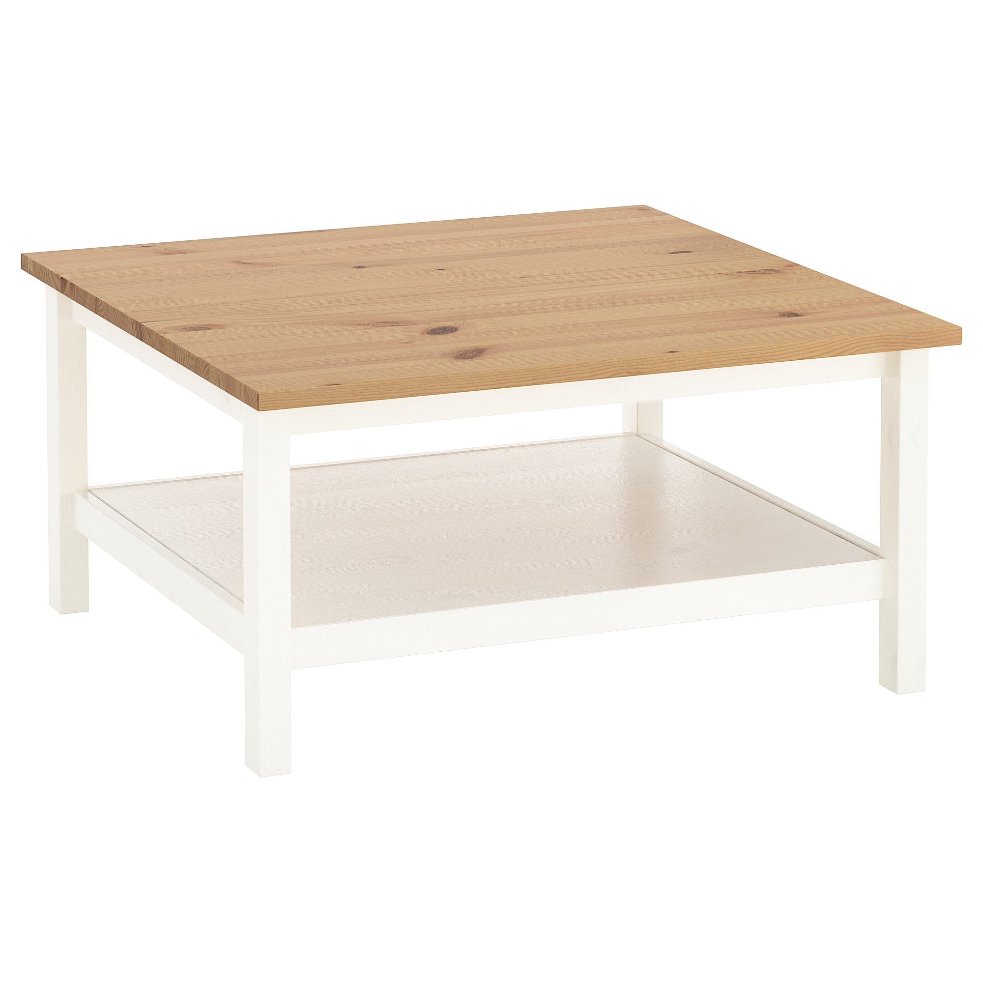 Fashionable Light Natural Coffee Tables With Regard To Hemnes Coffee Table White Stain/light Brown 90 X 90 Cm – Ikea (View 6 of 20)