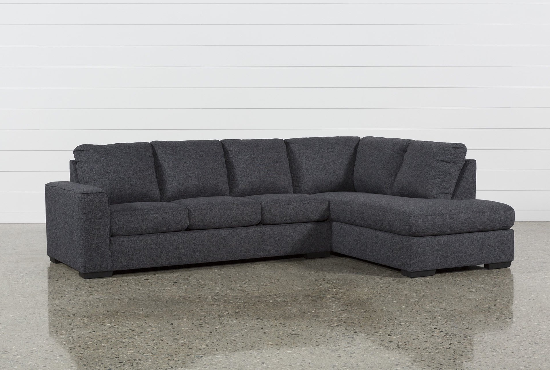 Fashionable Lucy Dark Grey 2 Piece Sectional W/laf Chaise (Gallery 4 of 20)