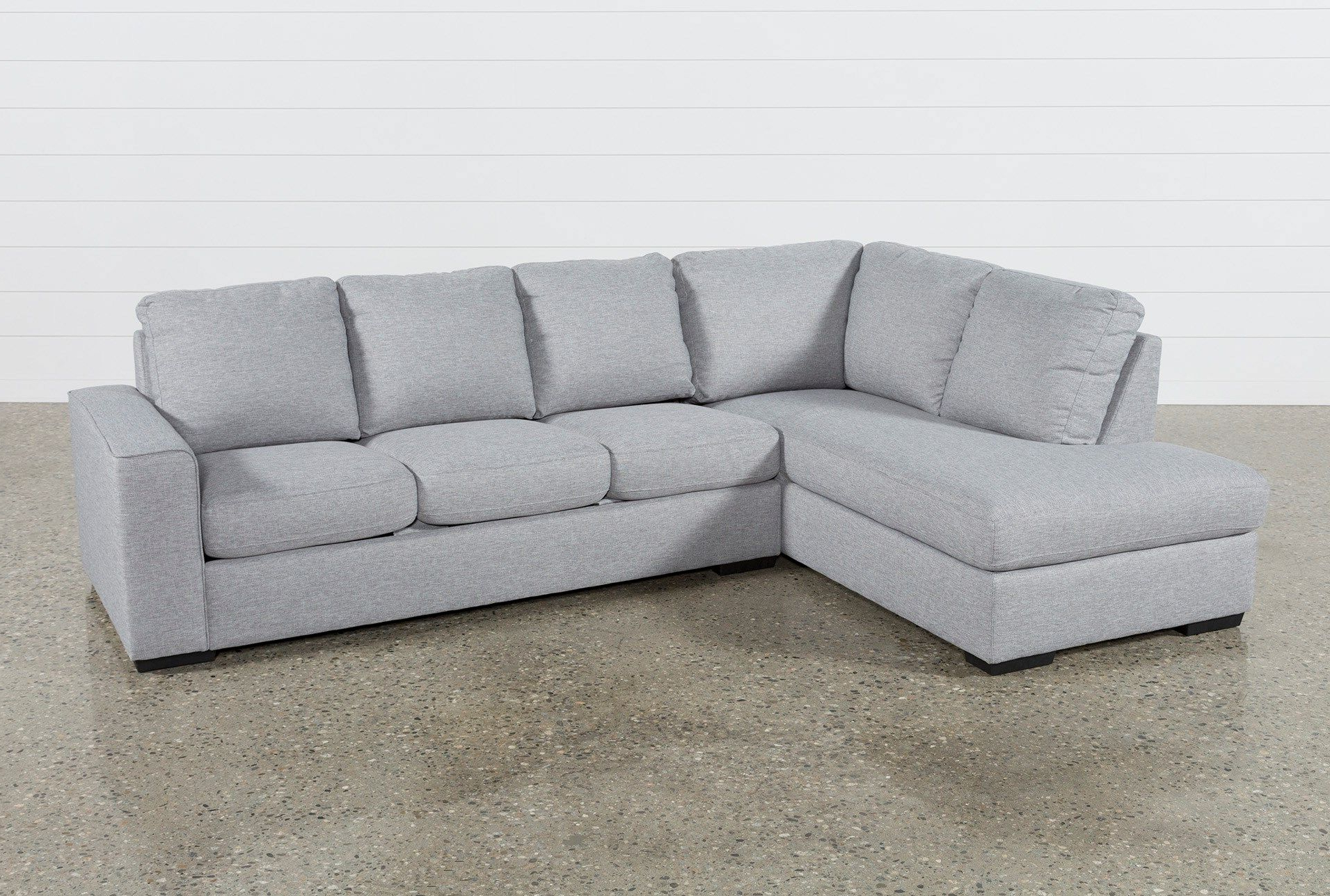 Fashionable Lucy Grey 2 Piece Sectional W/laf Chaise In  (View 7 of 20)