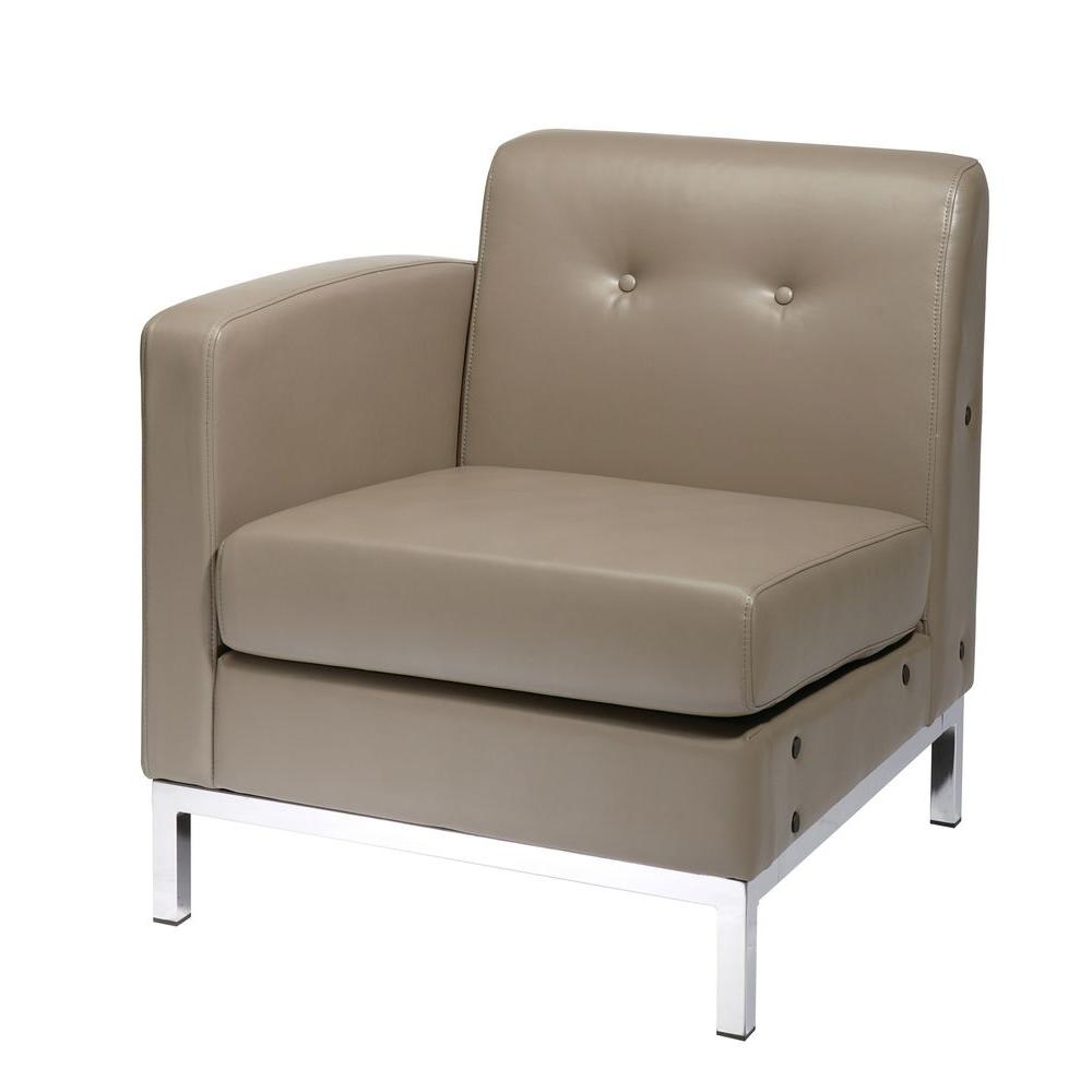 Fashionable Lucy Grey 2 Piece Sectionals With Raf Chaise Throughout Baxton Studio Orland 2 Piece Contemporary White Faux Leather (View 4 of 20)