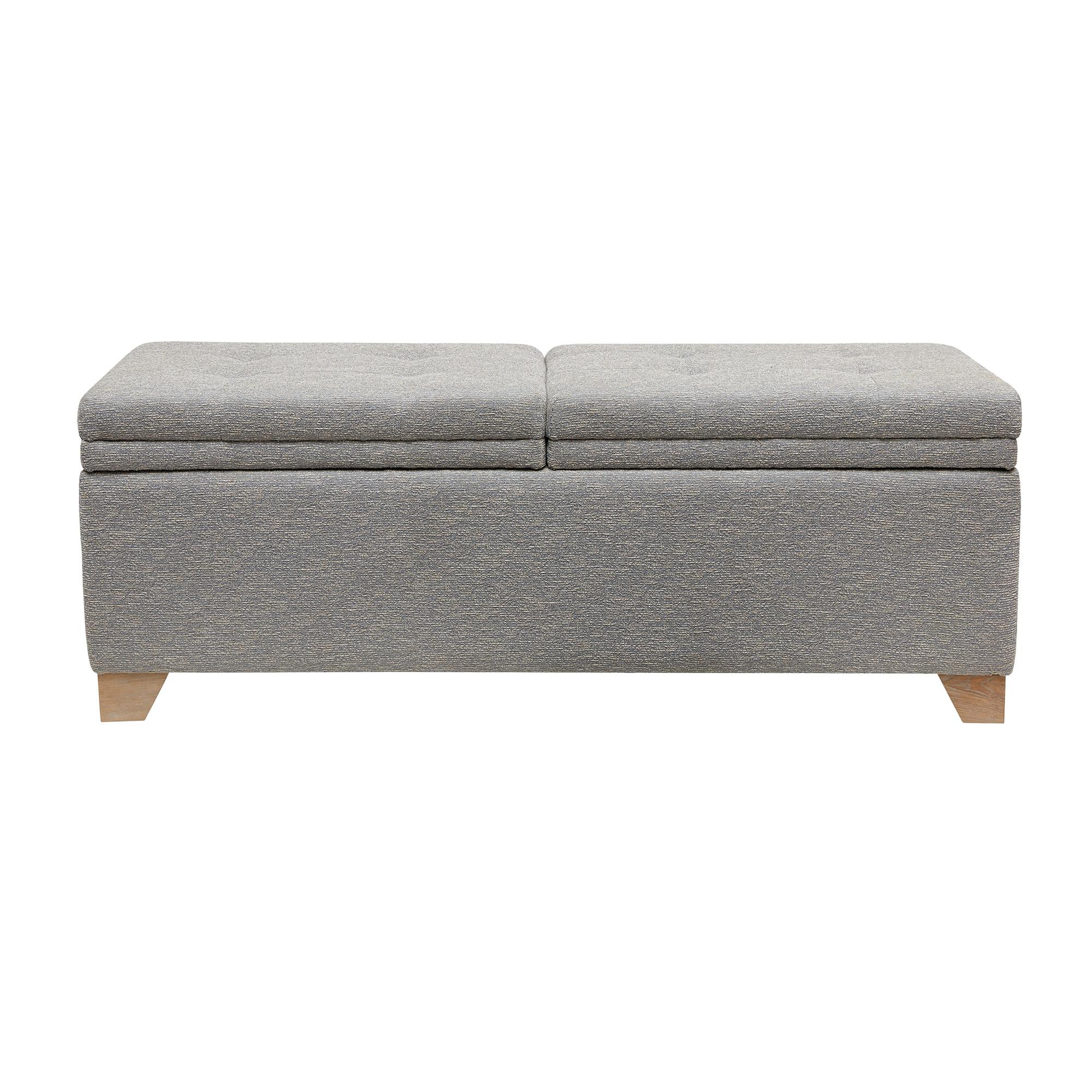 Fashionable Madison Park Jaxon Grey Multi Storage Bench – Walmart Inside Jaxon Grey Sideboards (Gallery 15 of 20)