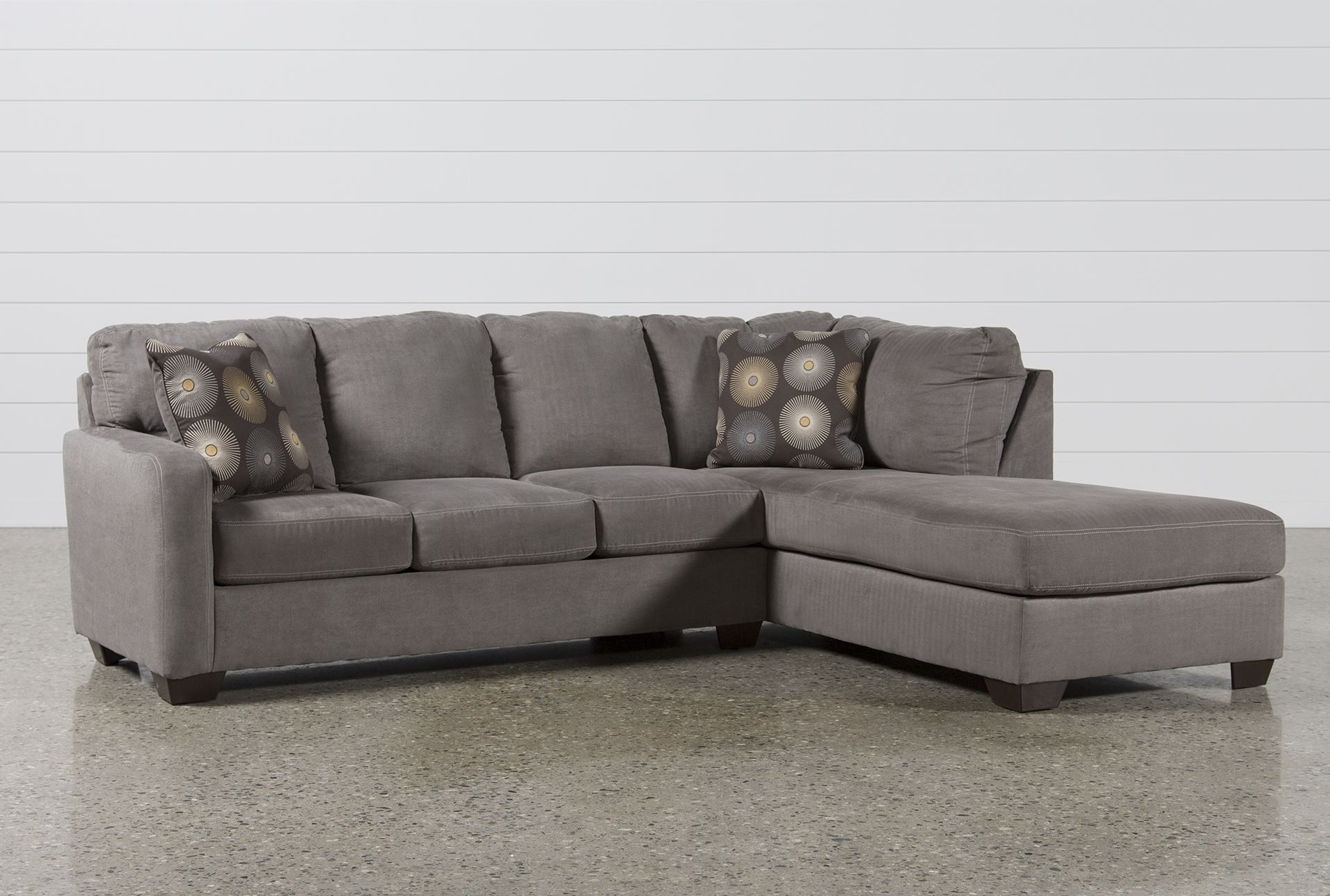 Fashionable Mcdade Graphite 2 Piece Sectionals With Laf Chaise Throughout Grey Sectional Sofa With Chaise (View 6 of 20)