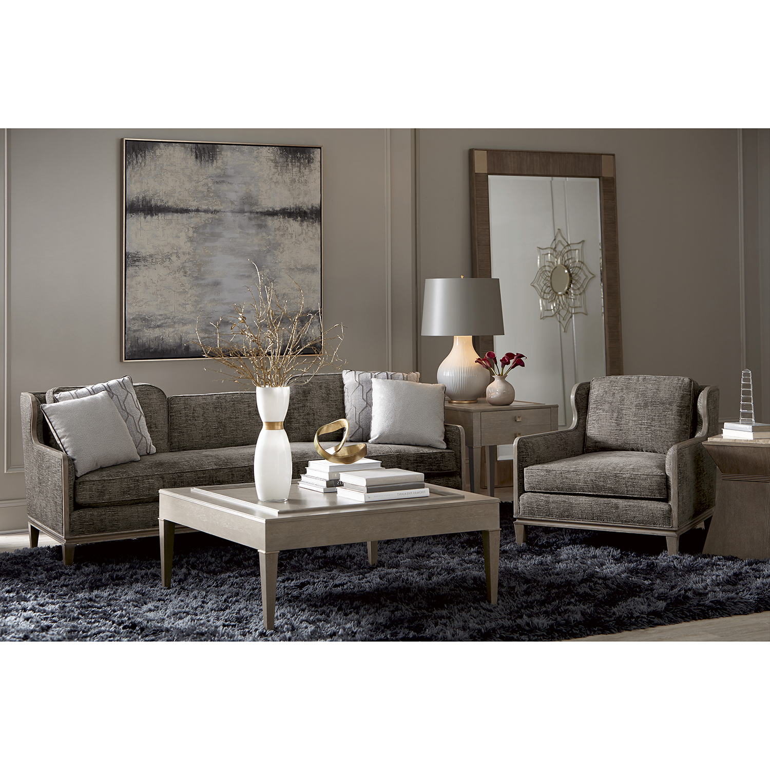 Fashionable Norfolk Grey 3 Piece Sectionals With Laf Chaise Throughout A.r.t. Furniture Cityscapes Fontaine Graphite Scoop Back Sofa 532581 (Gallery 18 of 20)