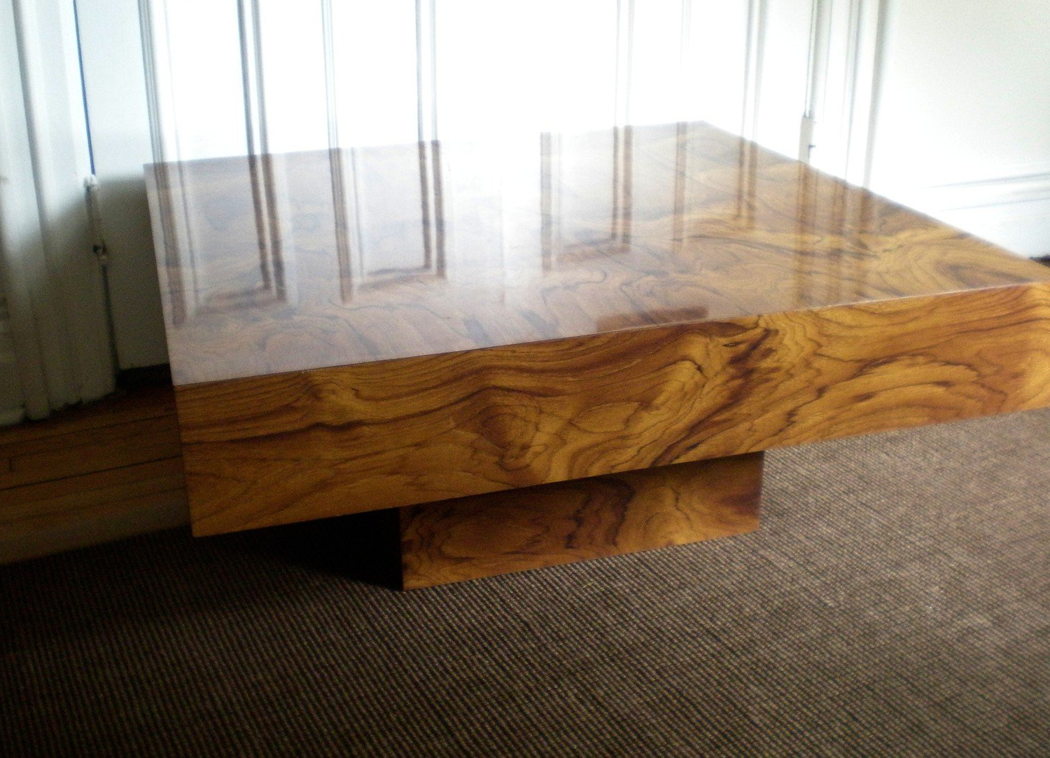 Fashionable Oslo Burl Wood Veneer Coffee Tables Inside Burl Wood Coffee Table – Brightonandhove (View 3 of 20)