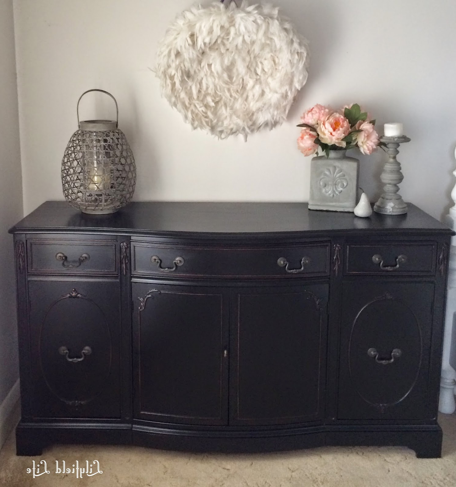 Fashionable Satin Black & Painted White Sideboards In Lilyfield Life: How To Paint Furniture Black Like A Boss (Gallery 1 of 20)