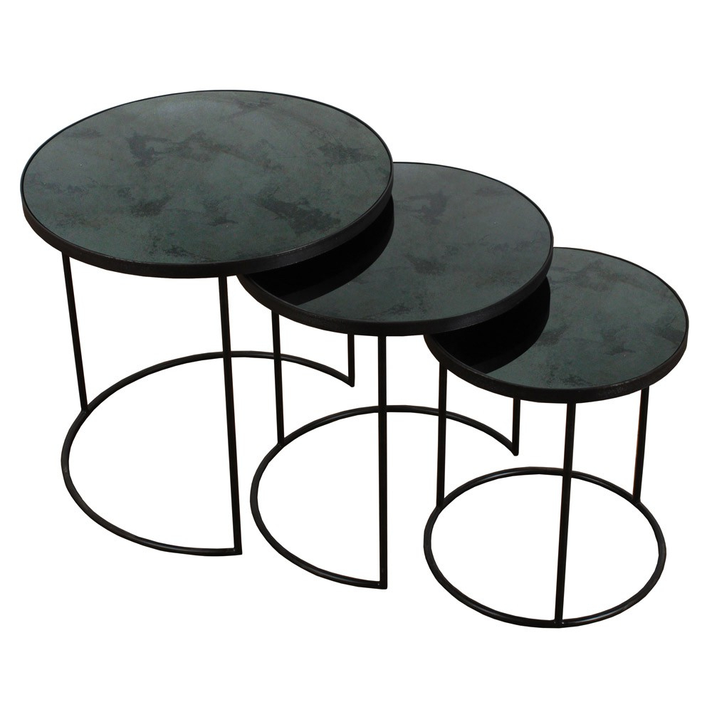 Fashionable Set Of Nesting Coffee Tables Pertaining To Notre Monde Nesting Side Table Set Of 3 (Gallery 1 of 20)