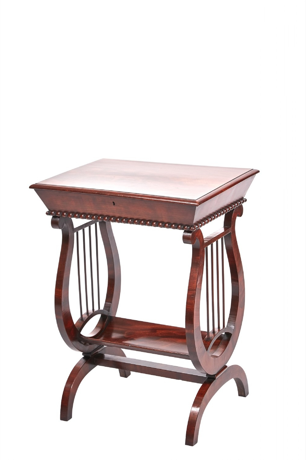Fashionable Unusual Regency Mahogany Lyre End Lamp Table (View 19 of 20)