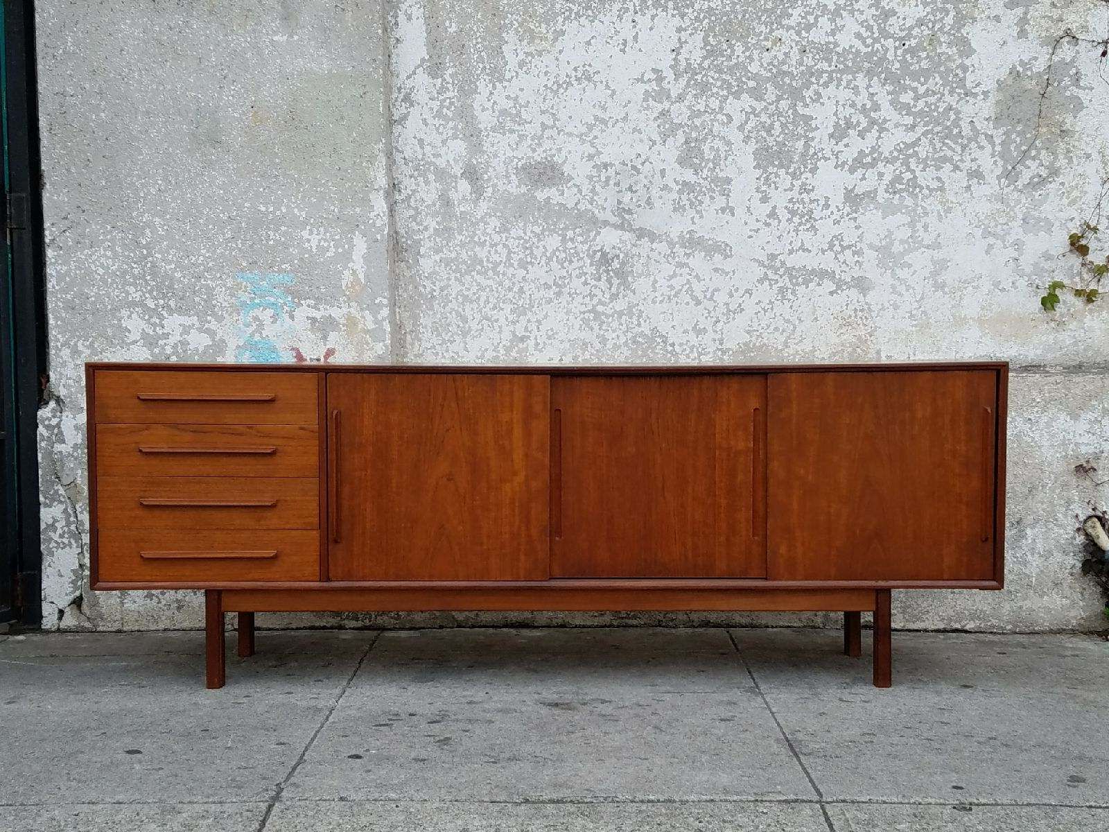 Fashionable Vintage Danish Teak Mid Century Credenza Sideboard (View 4 of 20)