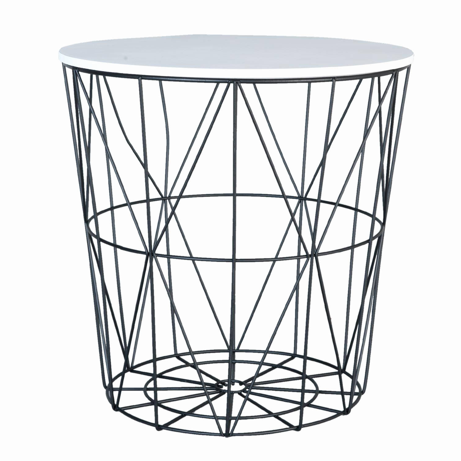 Fashionable White Coffee Table Black Legs Awesome White Black Geometric Side For Black Wire Coffee Tables (View 8 of 20)