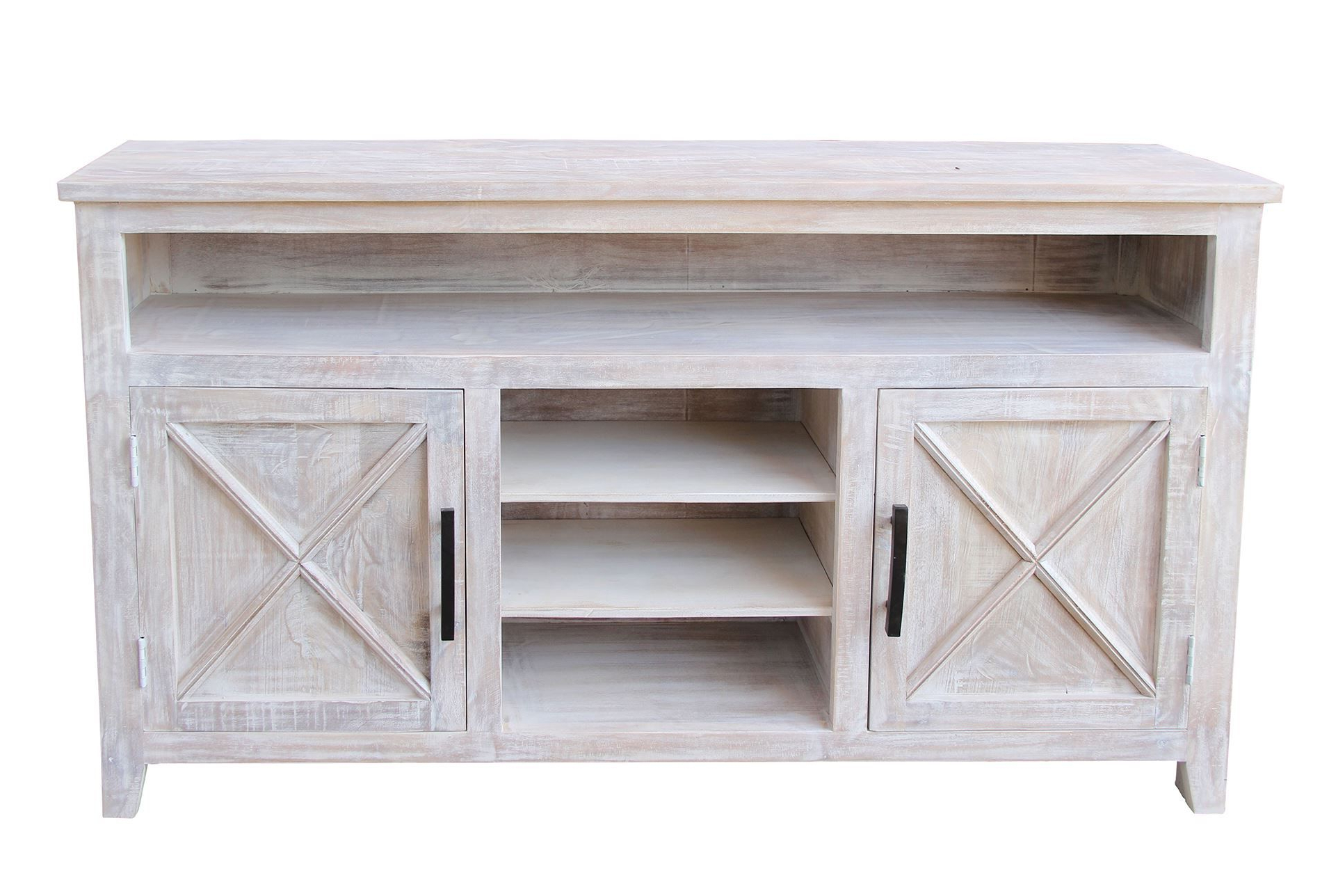 Fashionable White Wash 2 Door Sideboard (View 9 of 20)
