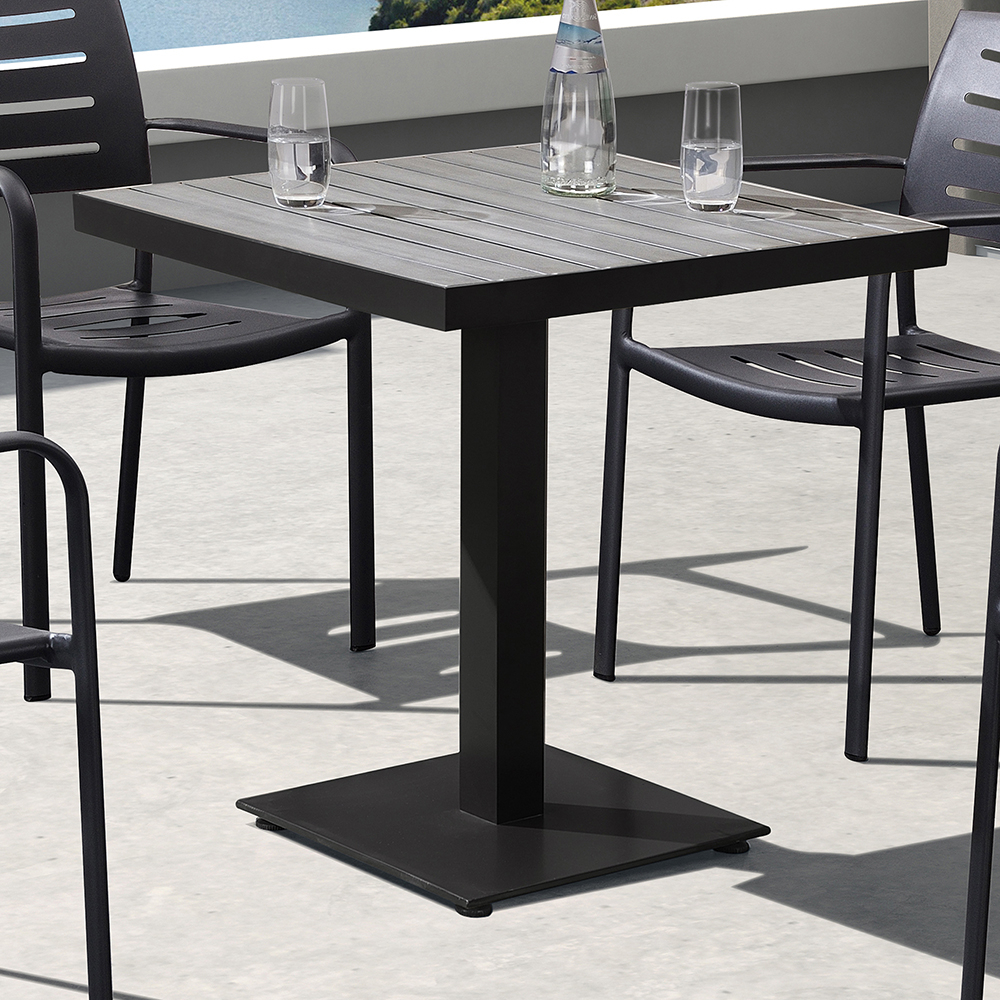 Fashionable Zander Outdoor Patio Dining Table In Gray Finished Cast Aluminum Regarding Zander Cocktail Tables (View 4 of 20)