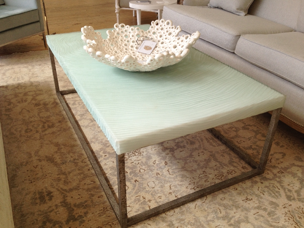 Faux Bois Coffee Tables Inside 2019 Anni Faux Bois Resin Coffee Table – Mecox Gardens (View 5 of 20)