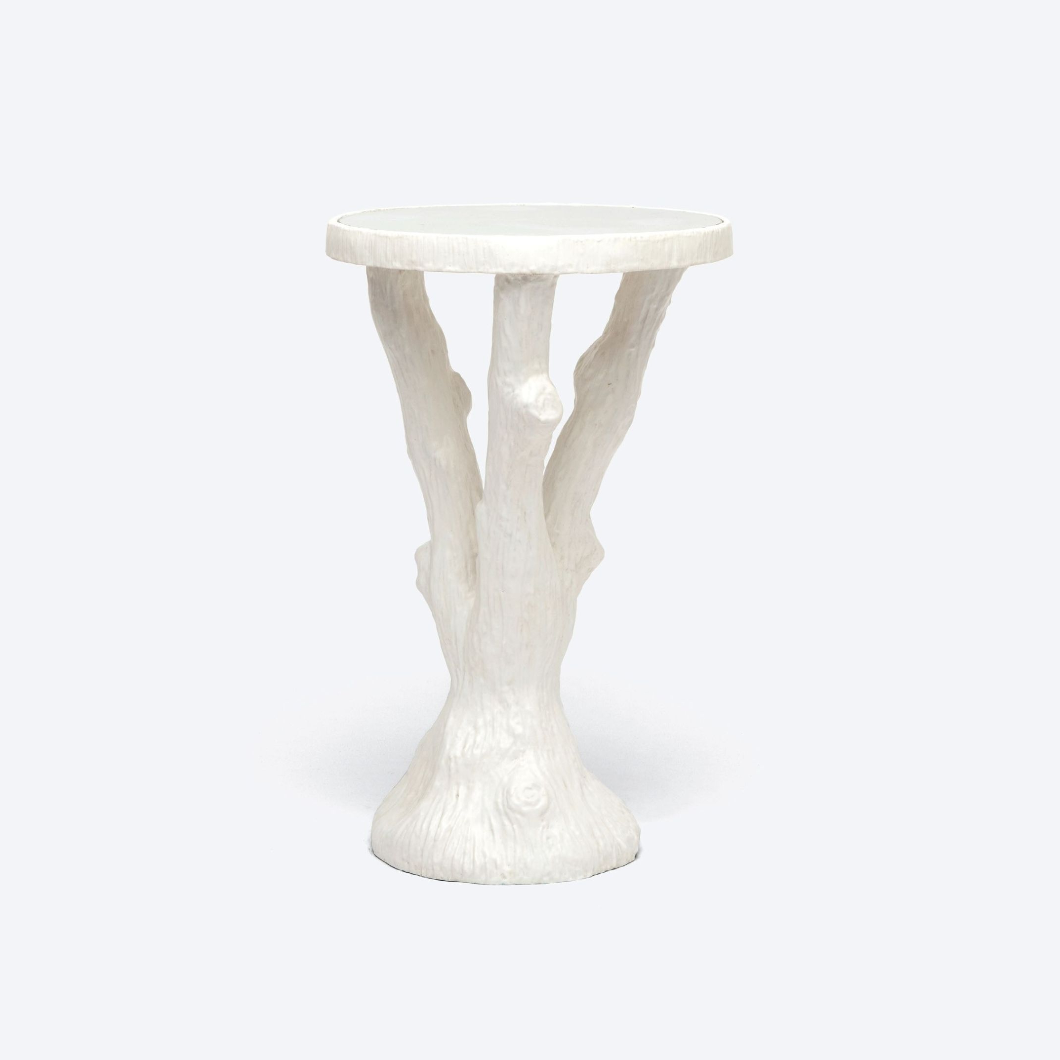 Faux Bois Coffee Tables Throughout Recent Faux Bois Resin Side Table – Mecox Gardens (View 7 of 20)