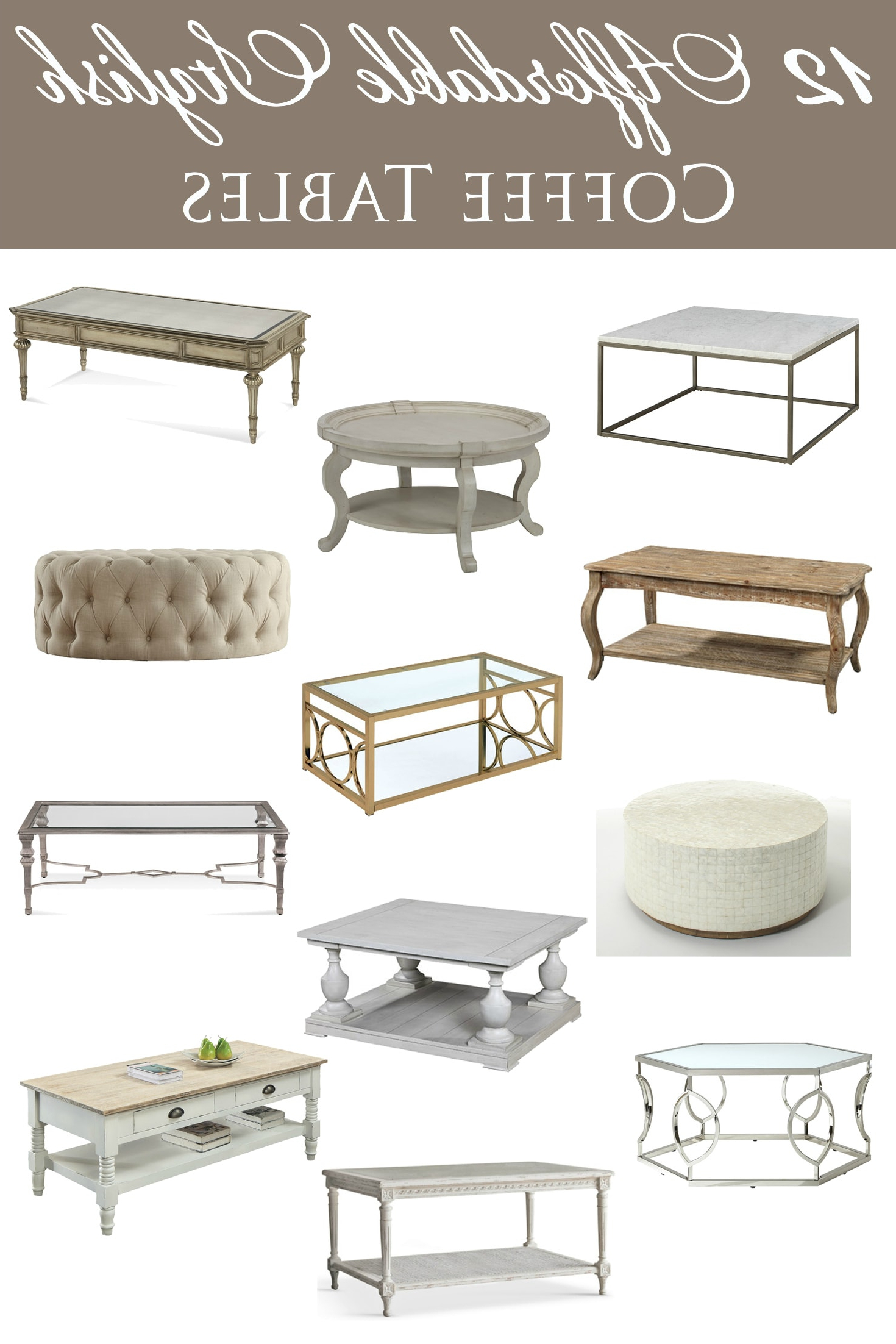 Favorite Abby Cocktail Tables Intended For 12 Affordable Stylish Coffee Tables (View 17 of 20)